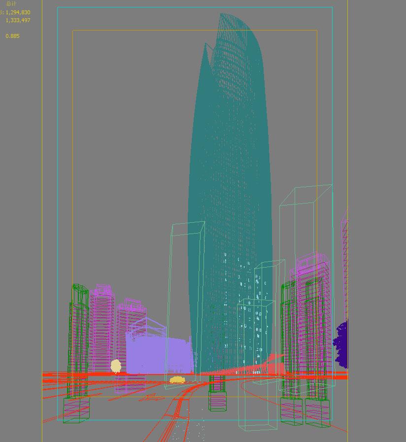 skyscraper business center 025 3d model max 206011