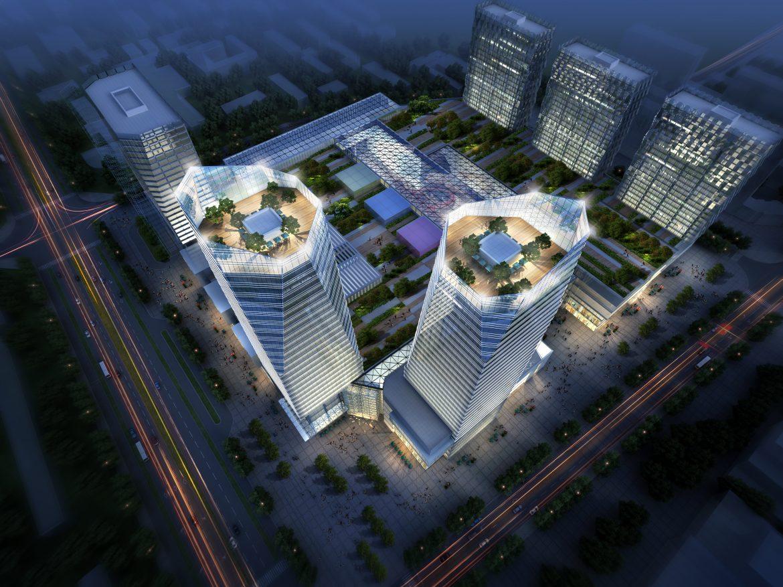 skyscraper business center 029 3d model max 206036