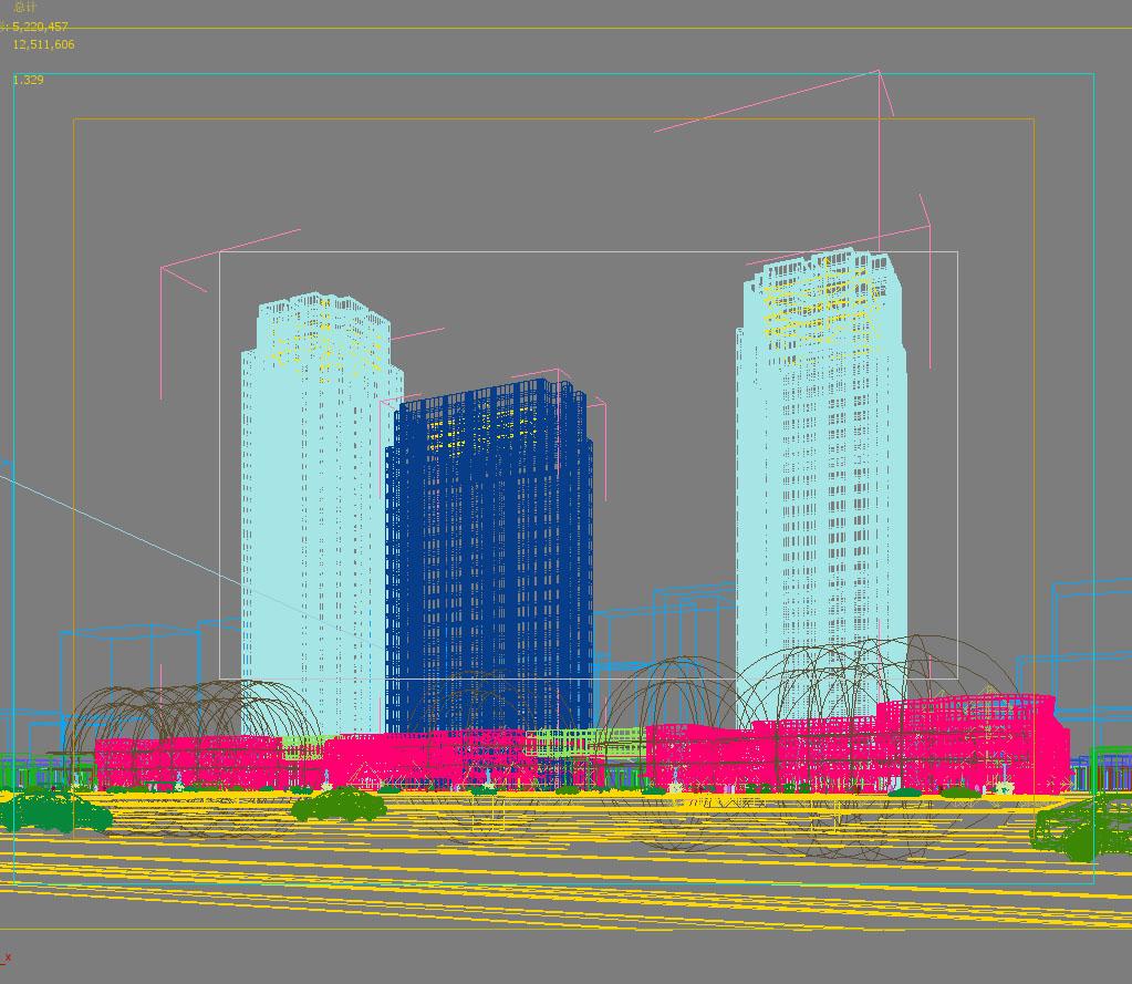 skyscraper business center 030 3d model max 206043