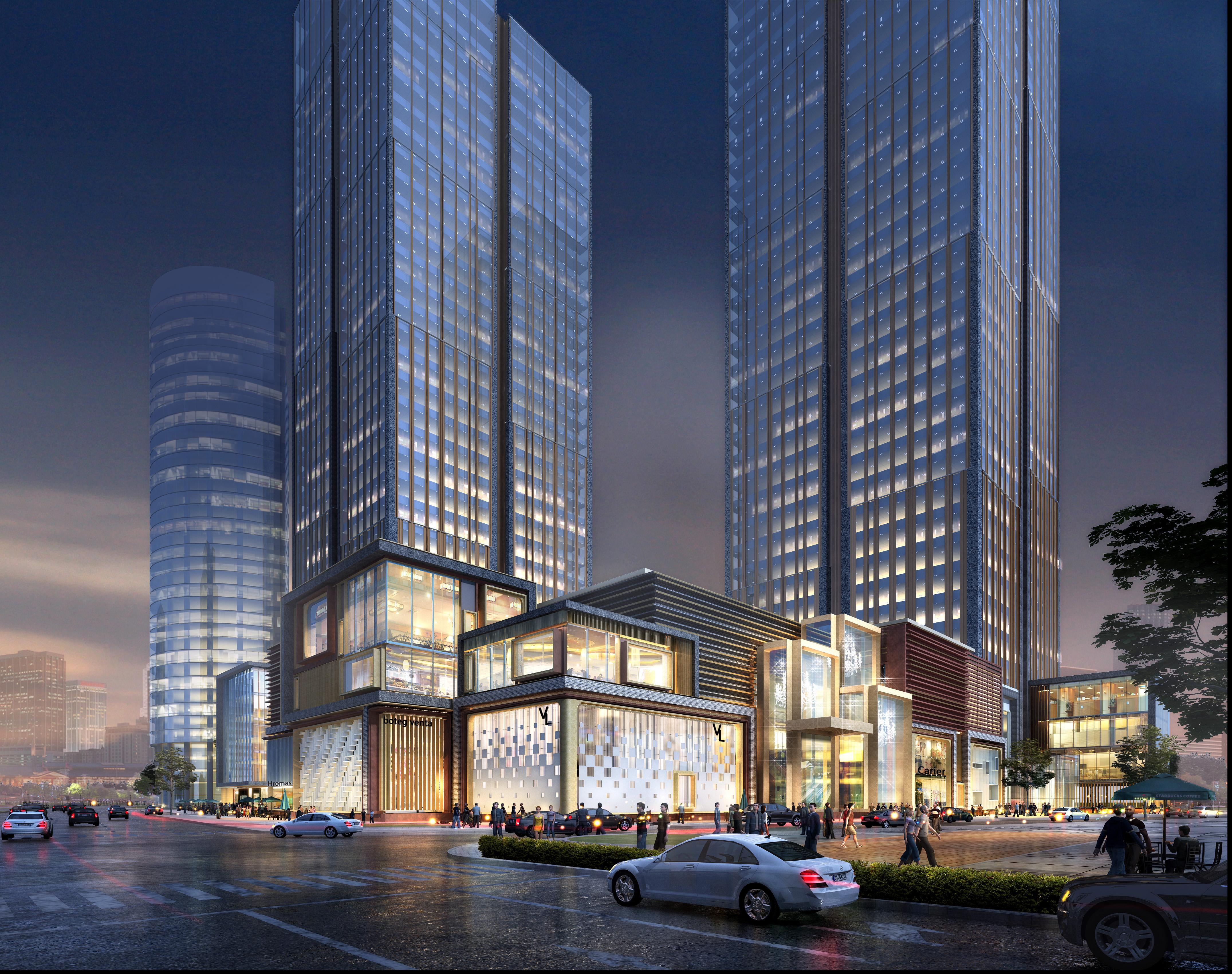 skyscraper business center 032 3d model max 206060