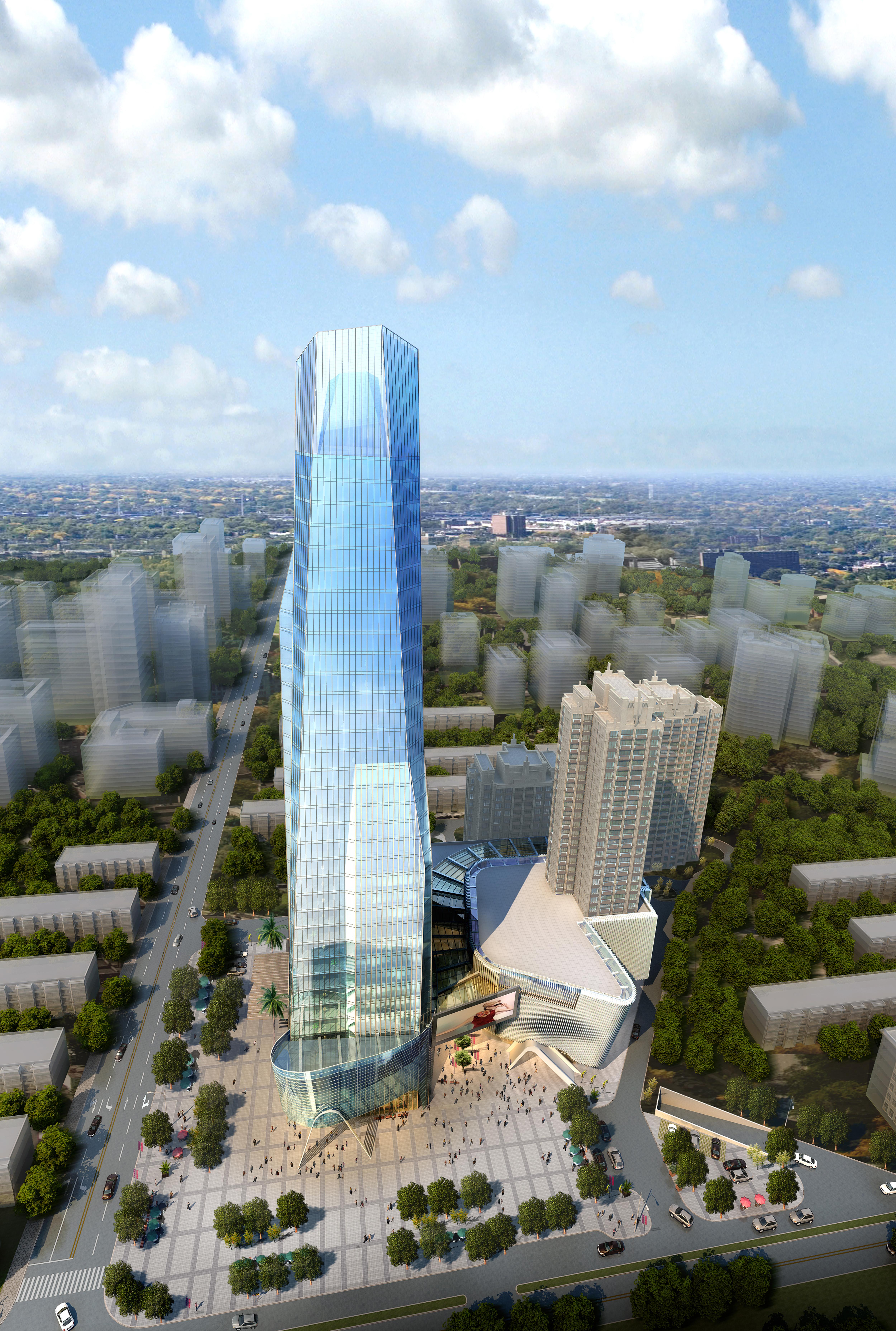 skyscraper business center 036 3d model max 206079