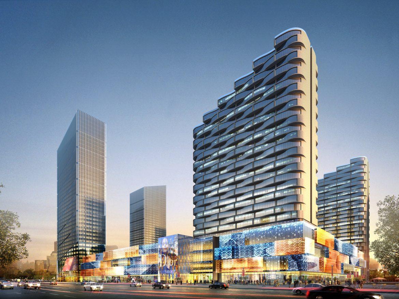 skyscraper business center 039 3d model max psd 206105