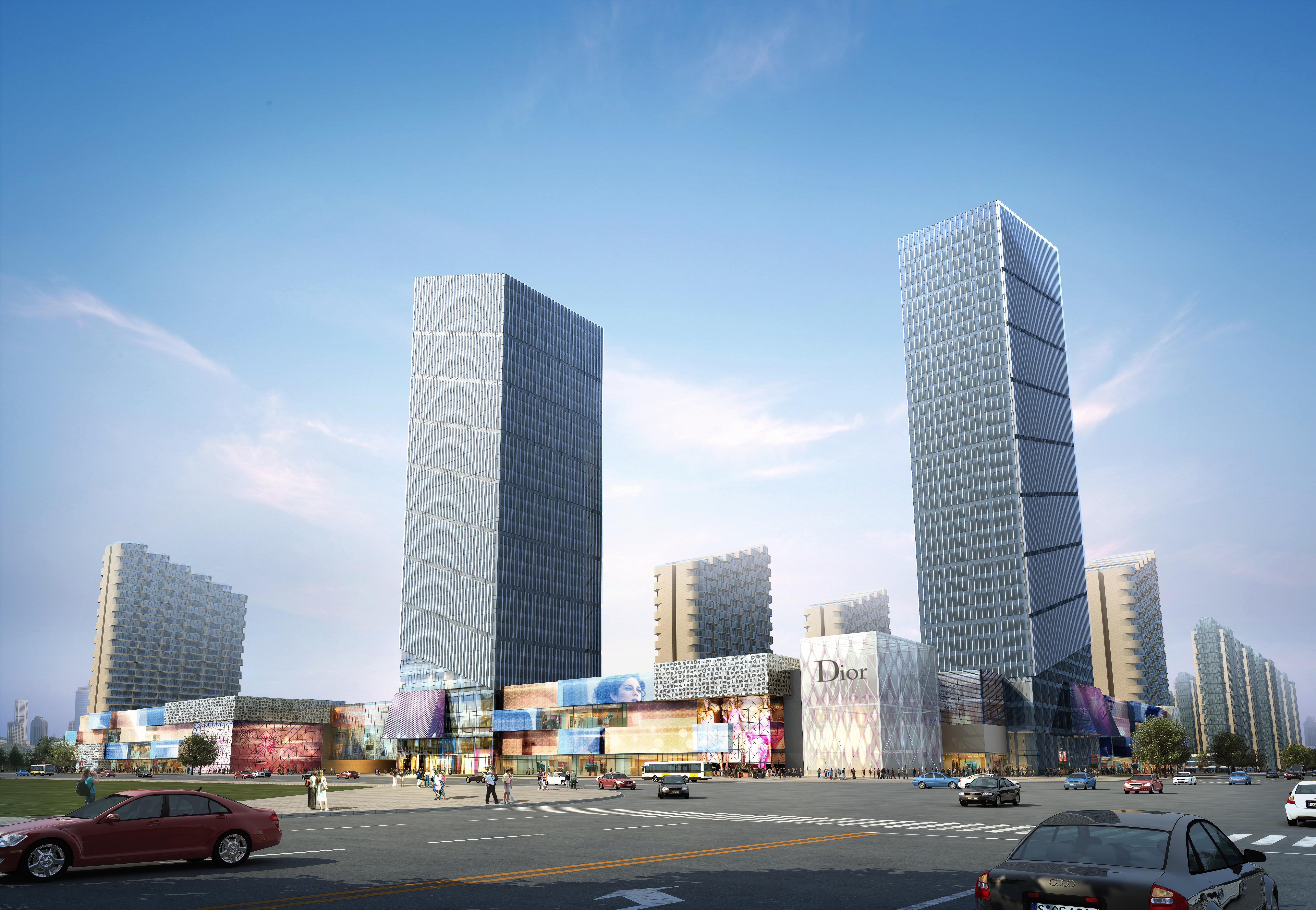 skyscraper business center 039 3d model max psd 206107