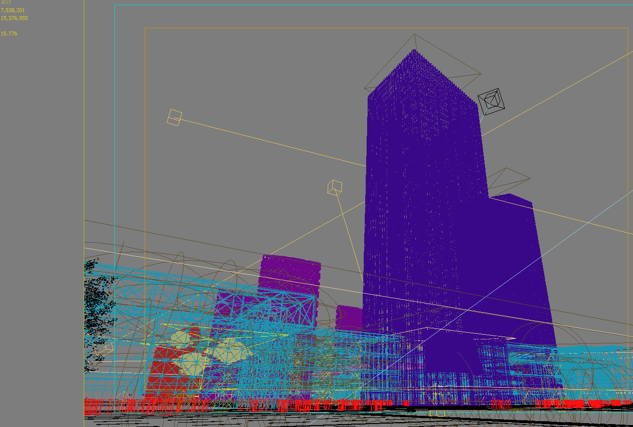 skyscraper business center 039 3d model max psd 206108