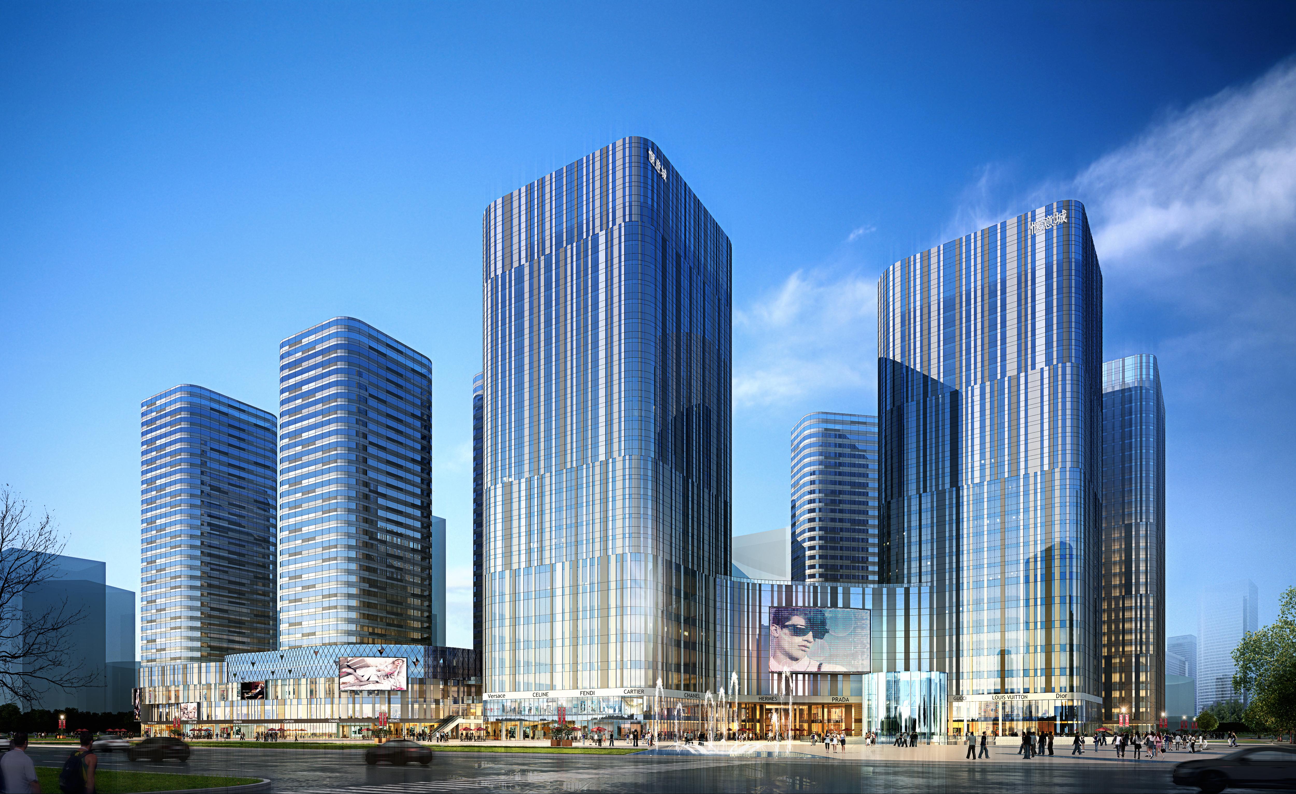 skyscraper business center 040 3d model max psd 206112