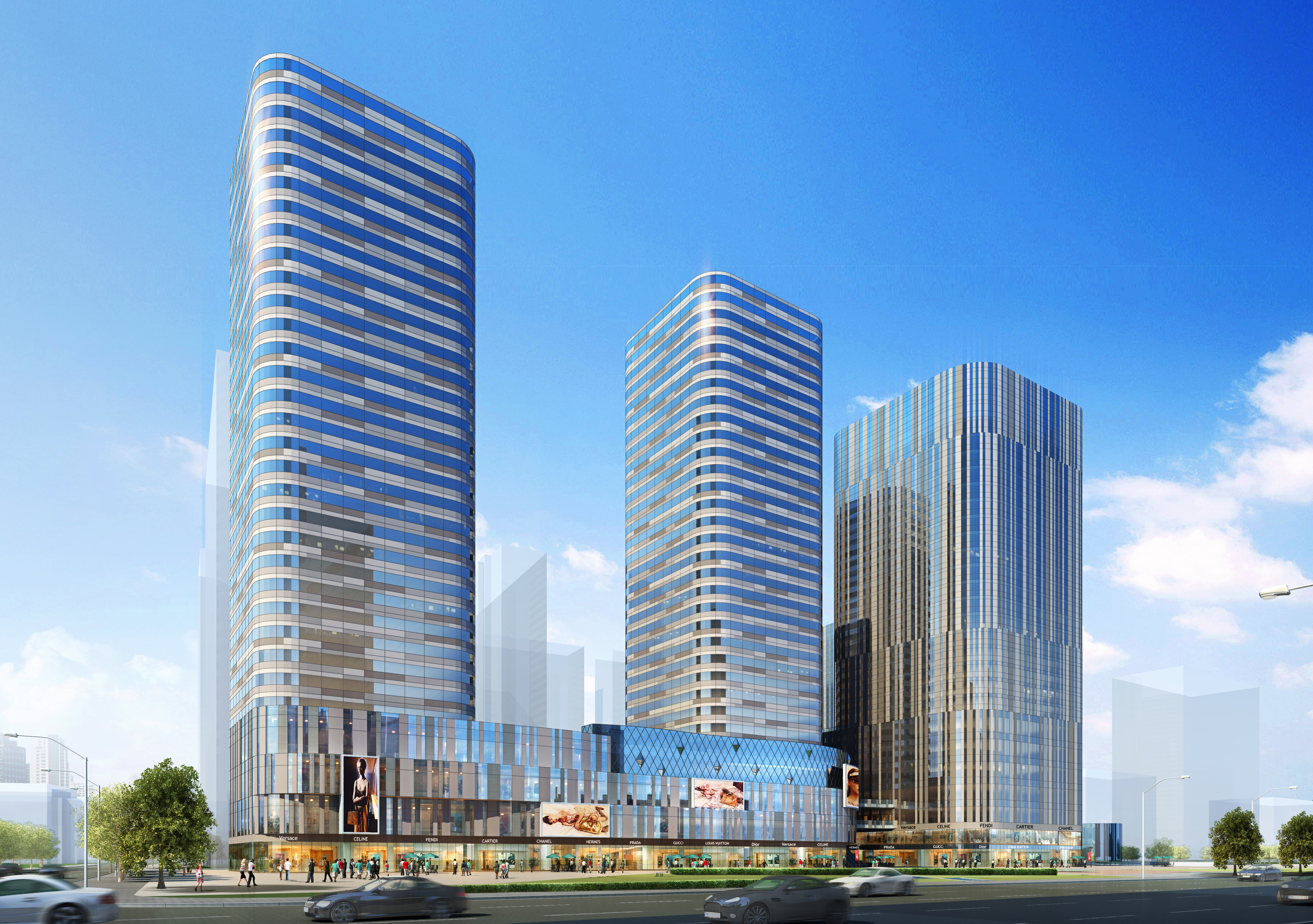 skyscraper business center 040 3d model max psd 206113