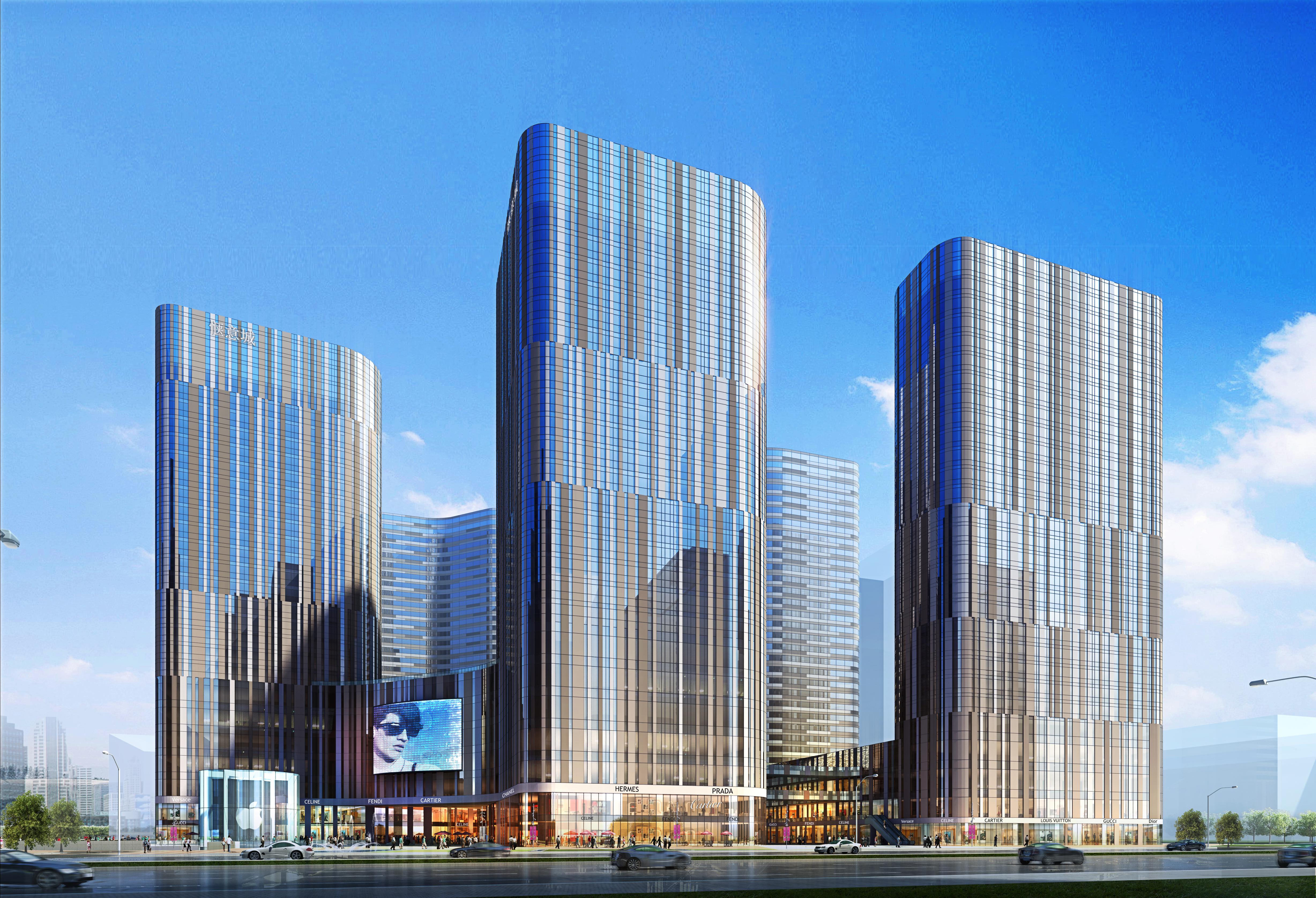 skyscraper business center 040 3d model max psd 206115