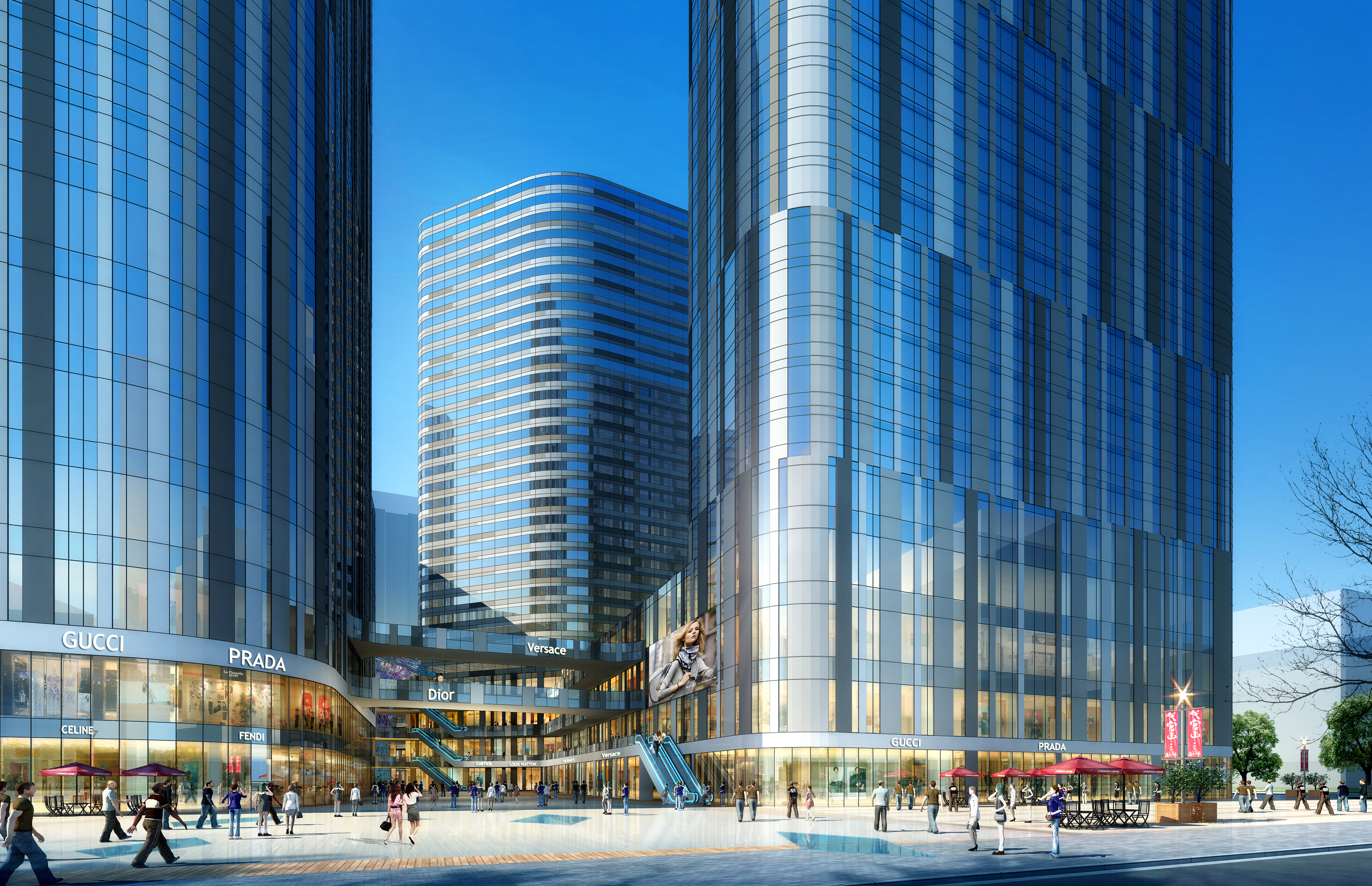 skyscraper business center 040 3d model max psd 206116