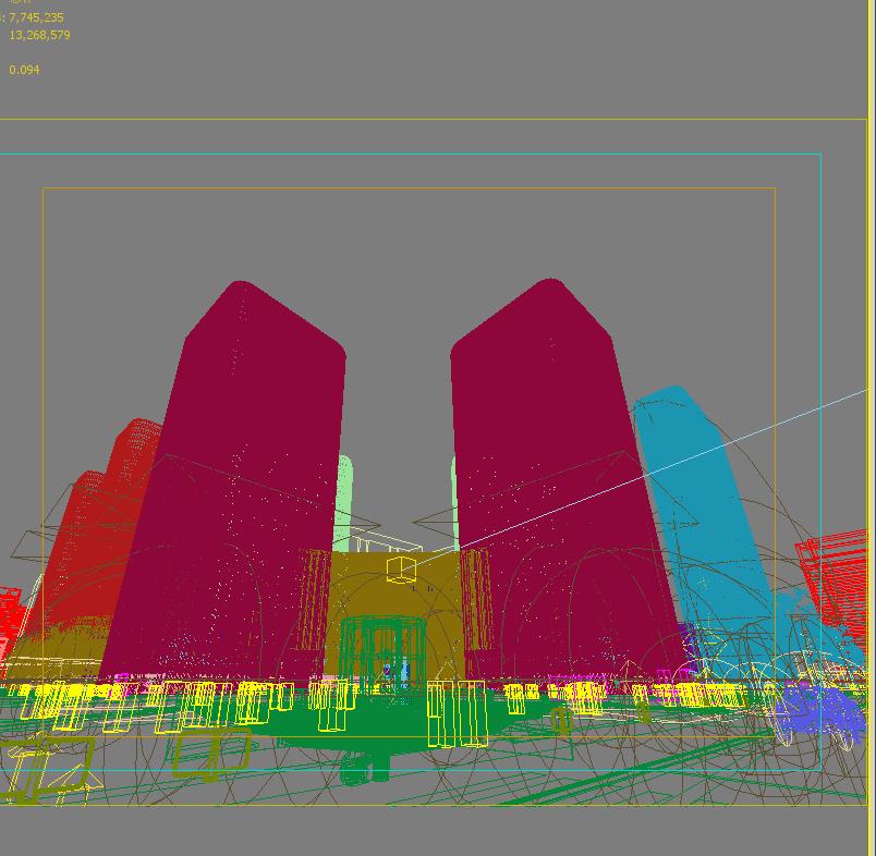 skyscraper business center 040 3d model max psd 206118