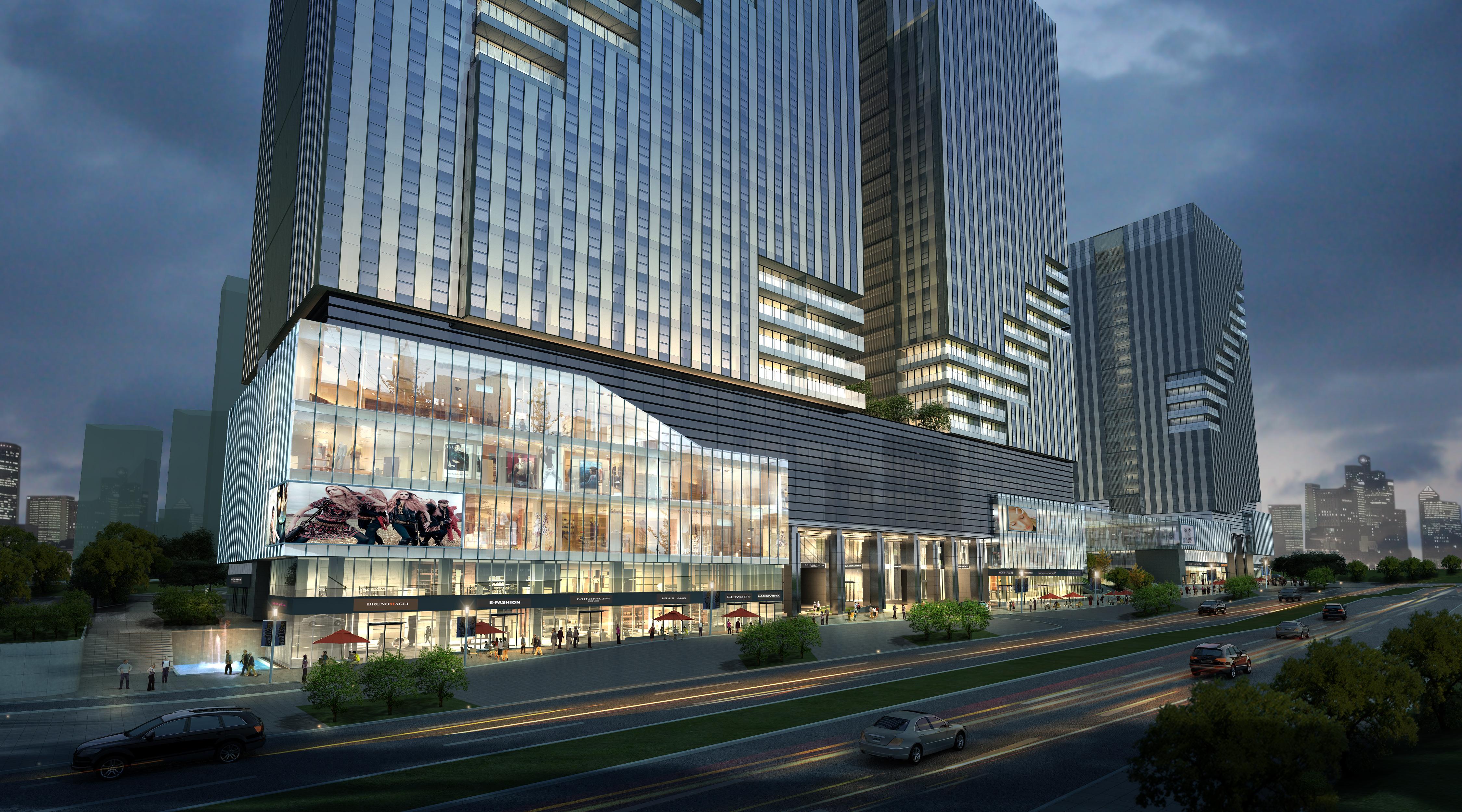 skyscraper business center 046 3d model max psd 206149