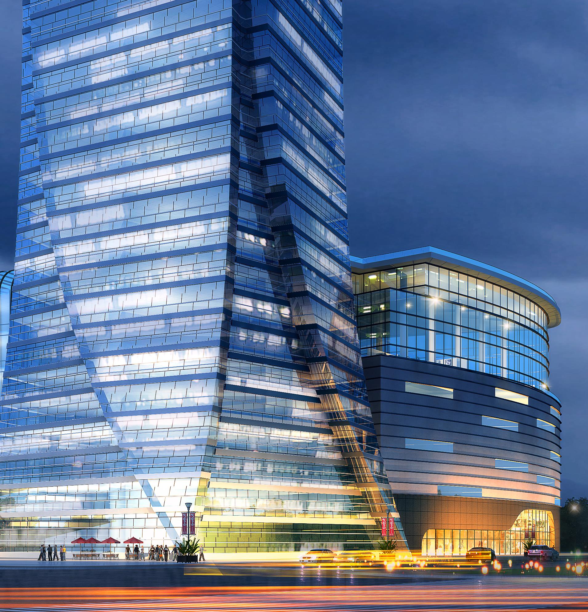 skyscraper business center 047 3d model max 206156