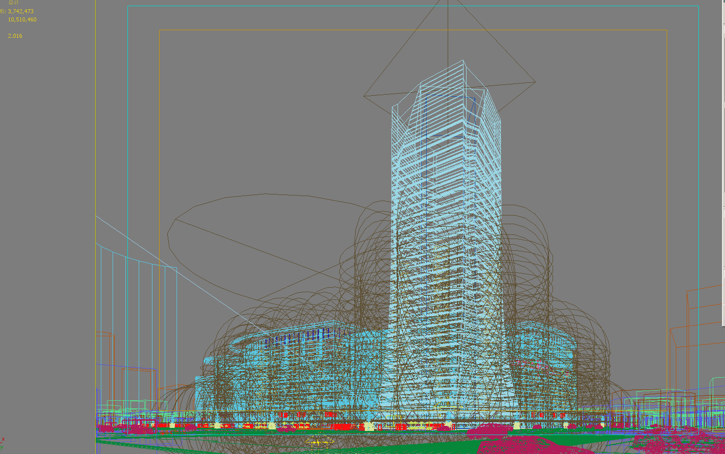 skyscraper business center 047 3d model max 206157