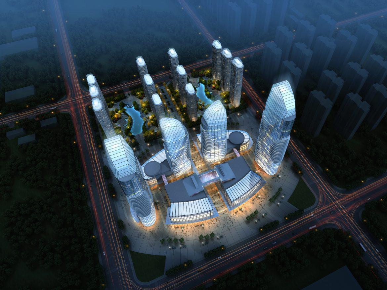skyscraper business center 048 3d model max 206161