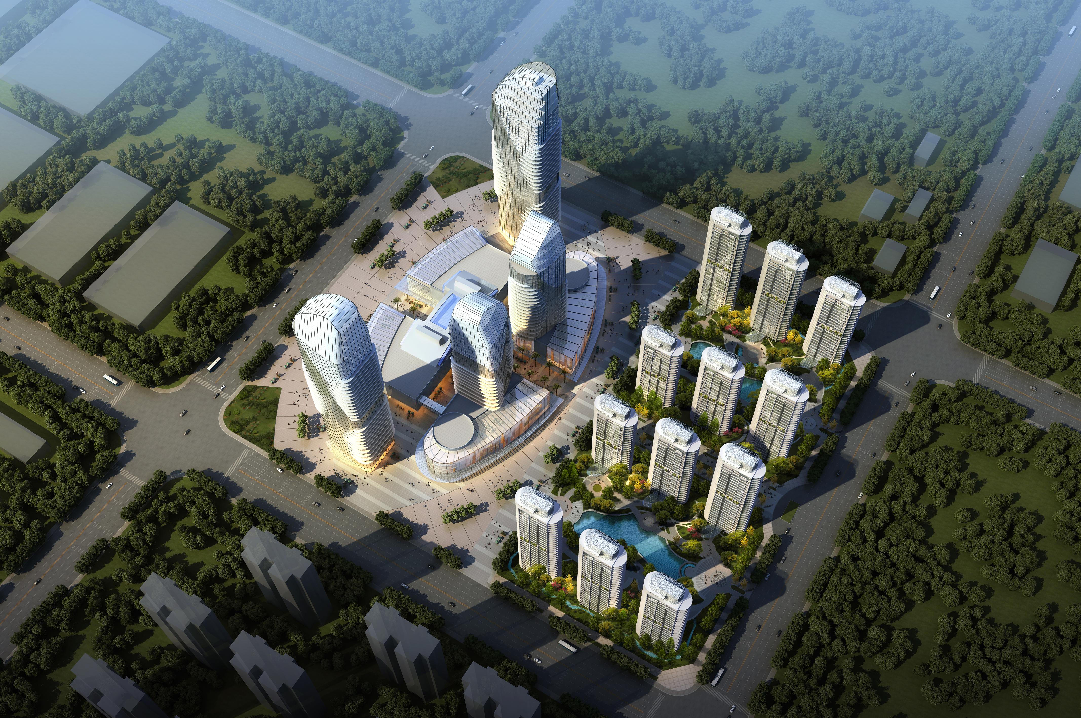 skyscraper business center 048 3d model max 206162