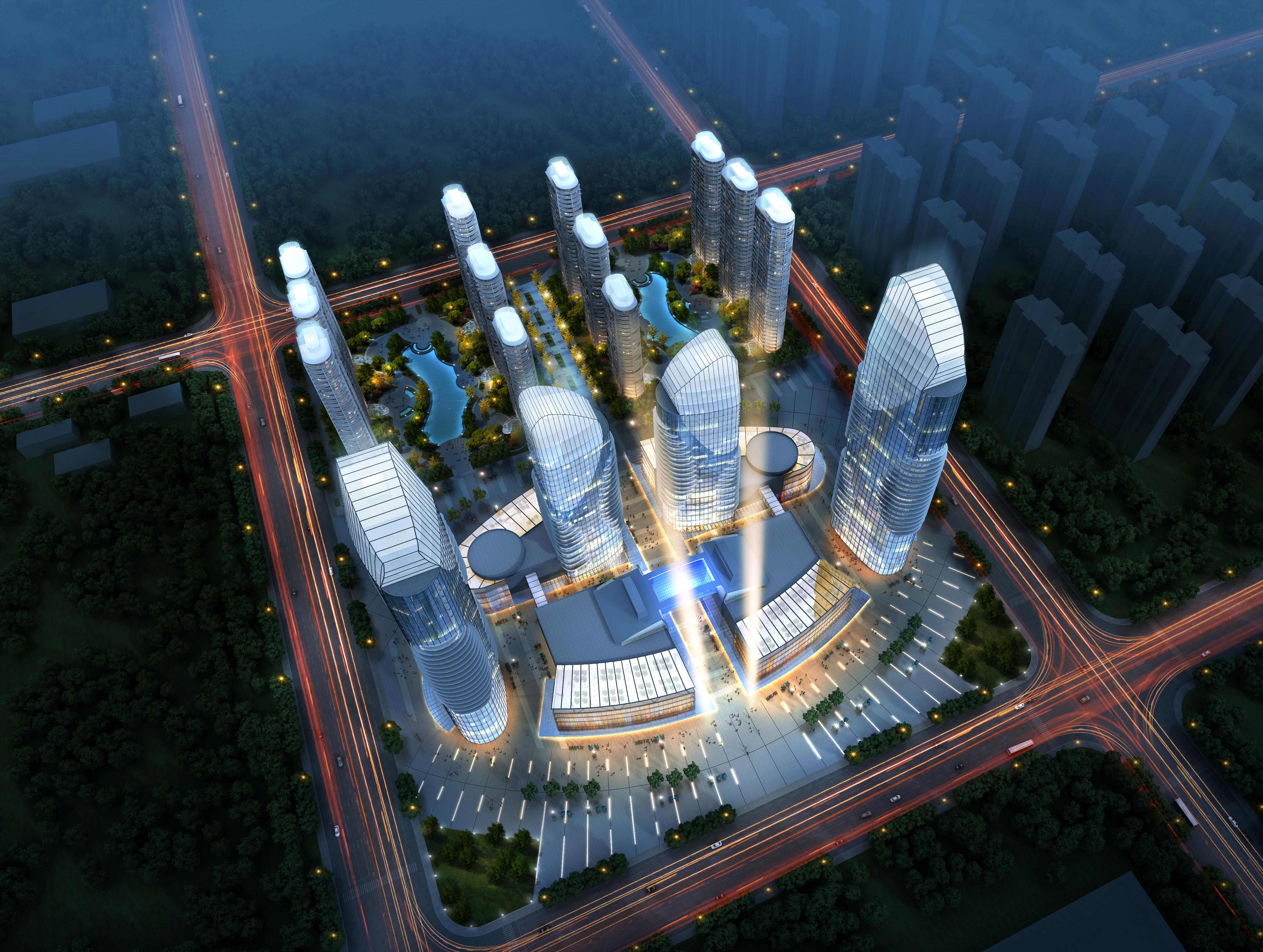 skyscraper business center 048 3d model max 206164