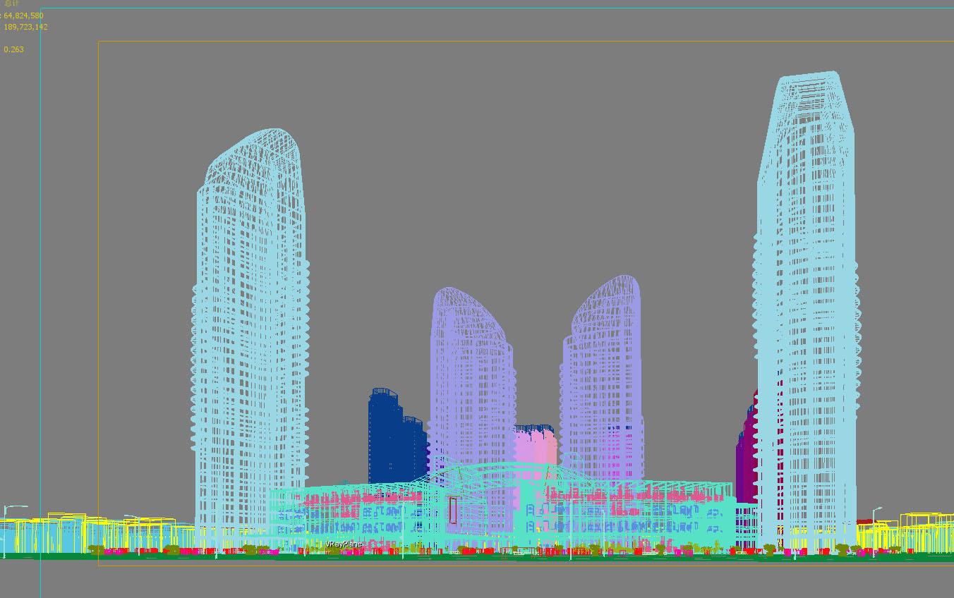 skyscraper business center 048 3d model max 206165