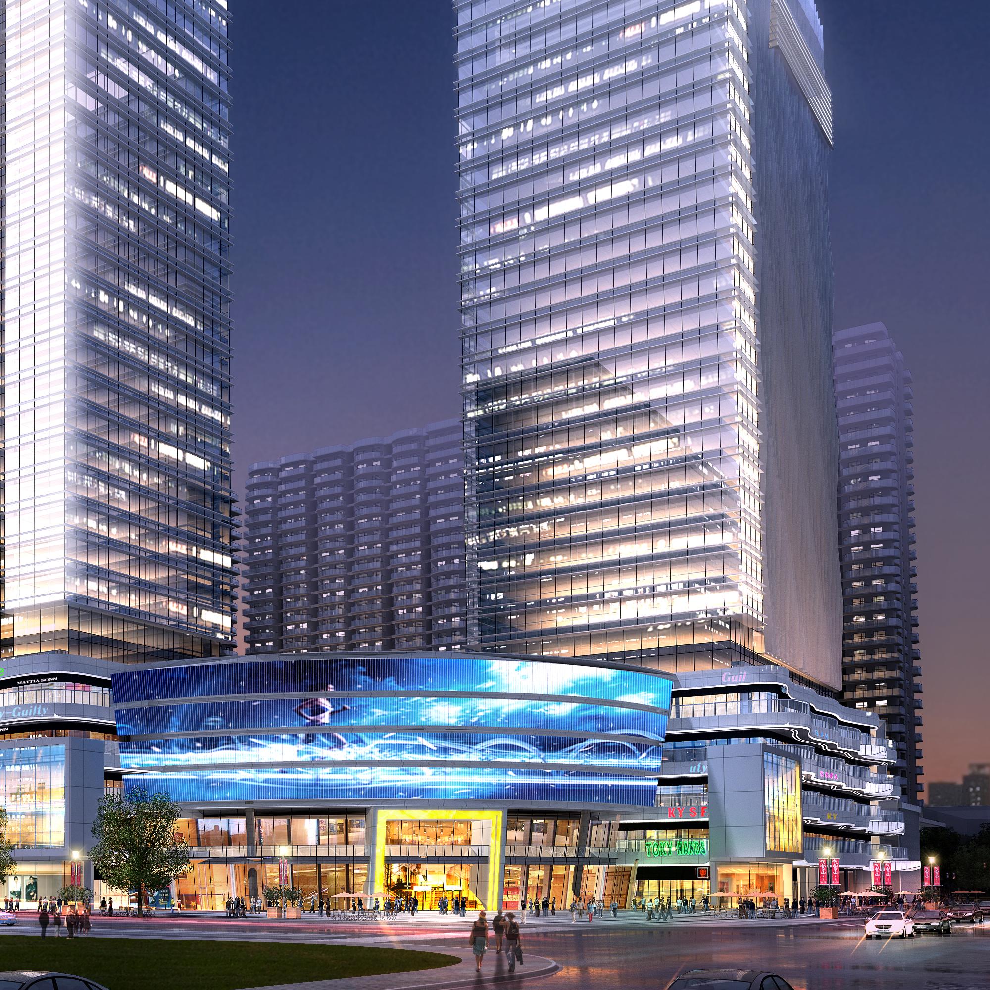 skyscraper business center 049 3d model max 206171