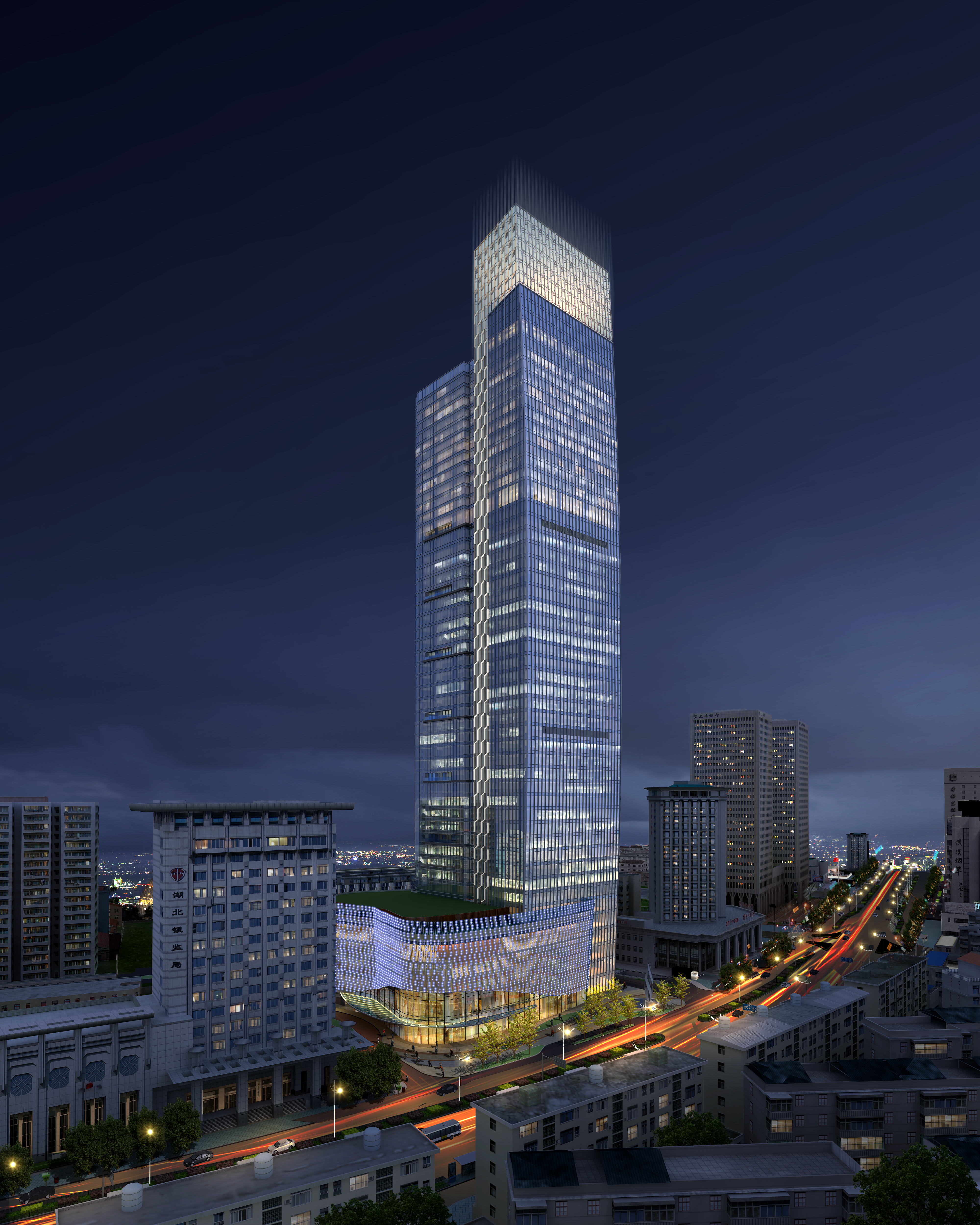 felhőkarcoló üzleti központ 051 3d modell max 206180