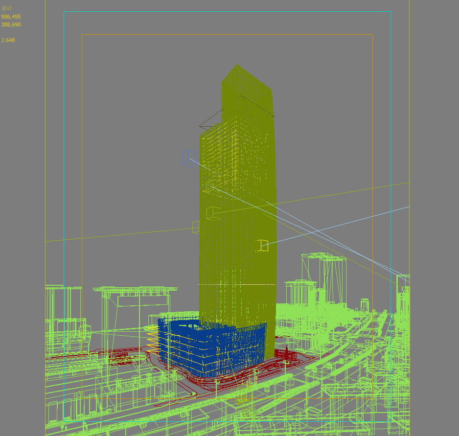 skyscraper business center 051 3d model max 206181