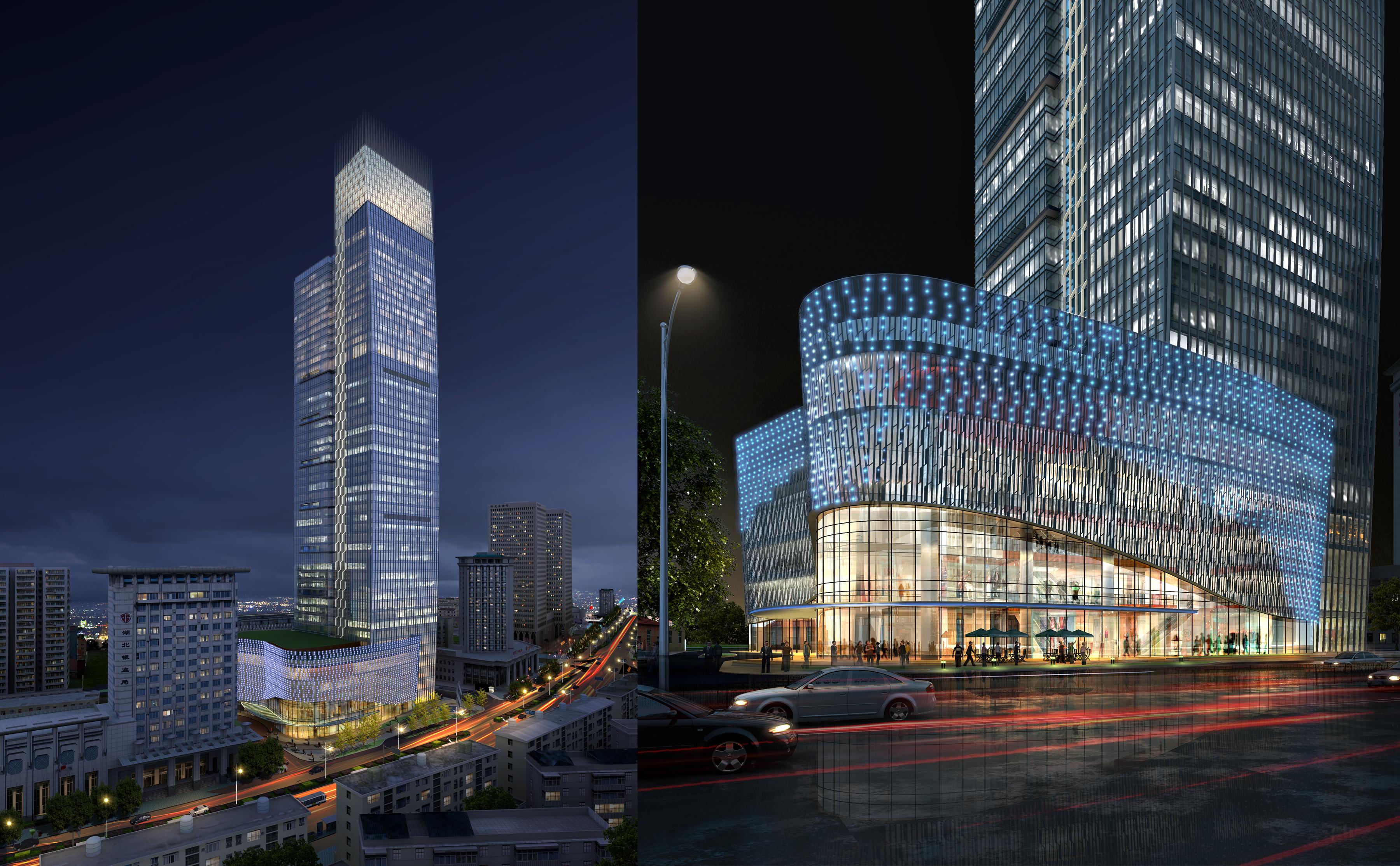 felhőkarcoló üzleti központ 051 3d modell max 206182