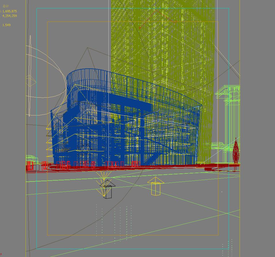felhőkarcoló üzleti központ 051 3d modell max 206183
