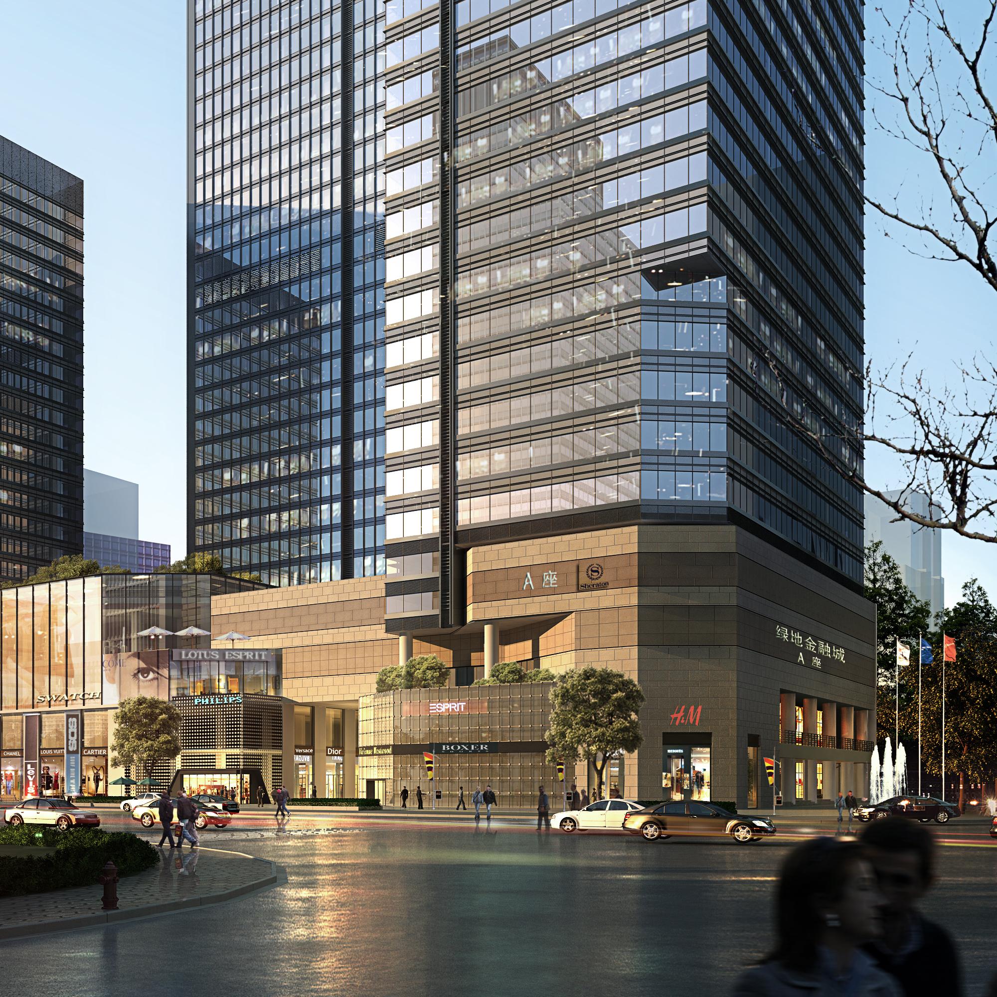 skyscraper business center 052 3d model max psd 206187