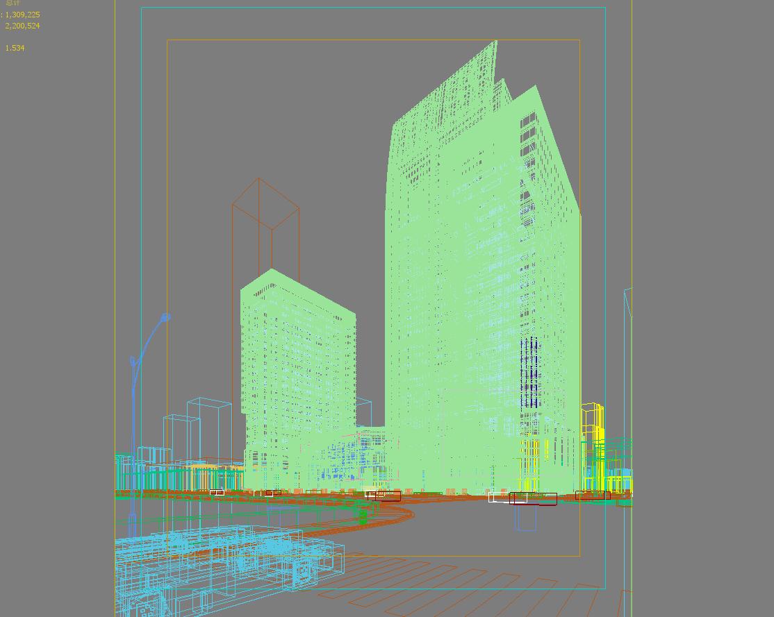 skyscraper business center 052 3d model max psd 206188