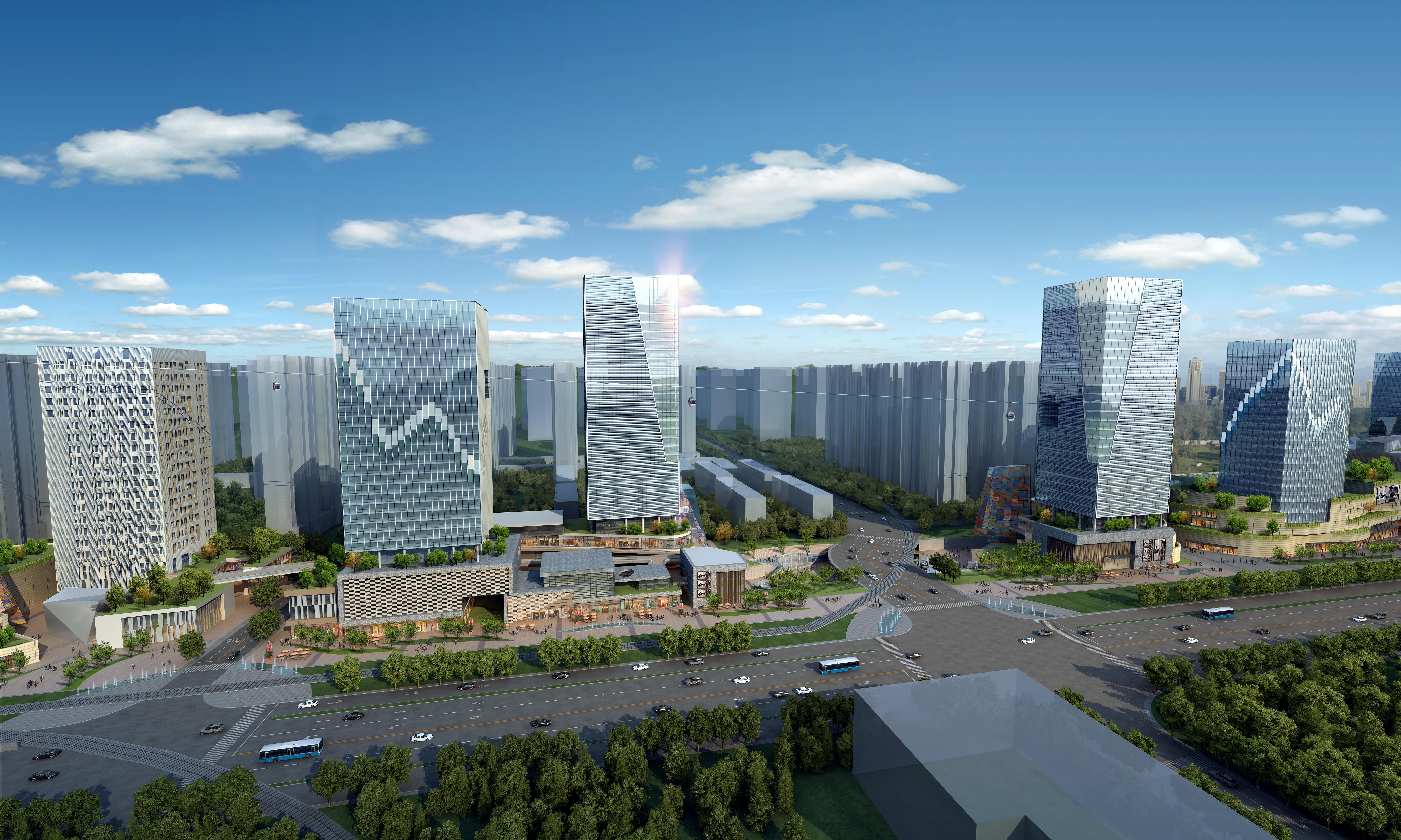 felhőkarcoló üzleti központ 053 3d modell max 206192
