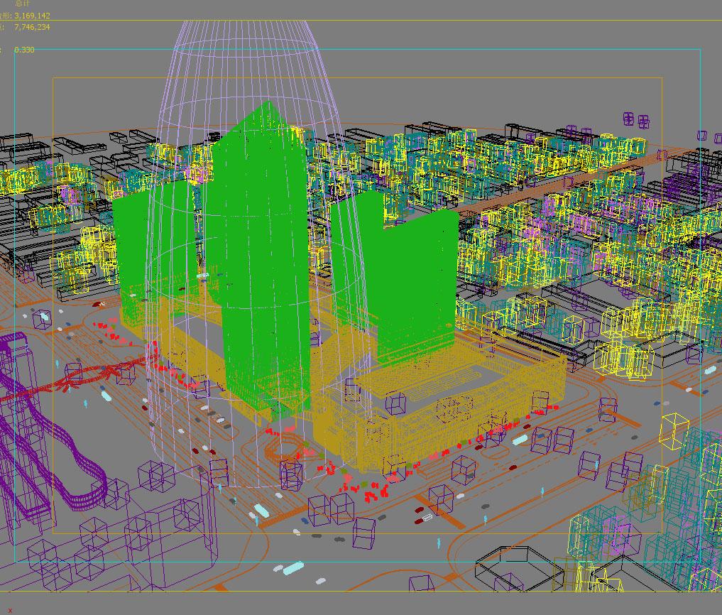 skyscraper business center 055 3d model max 206206
