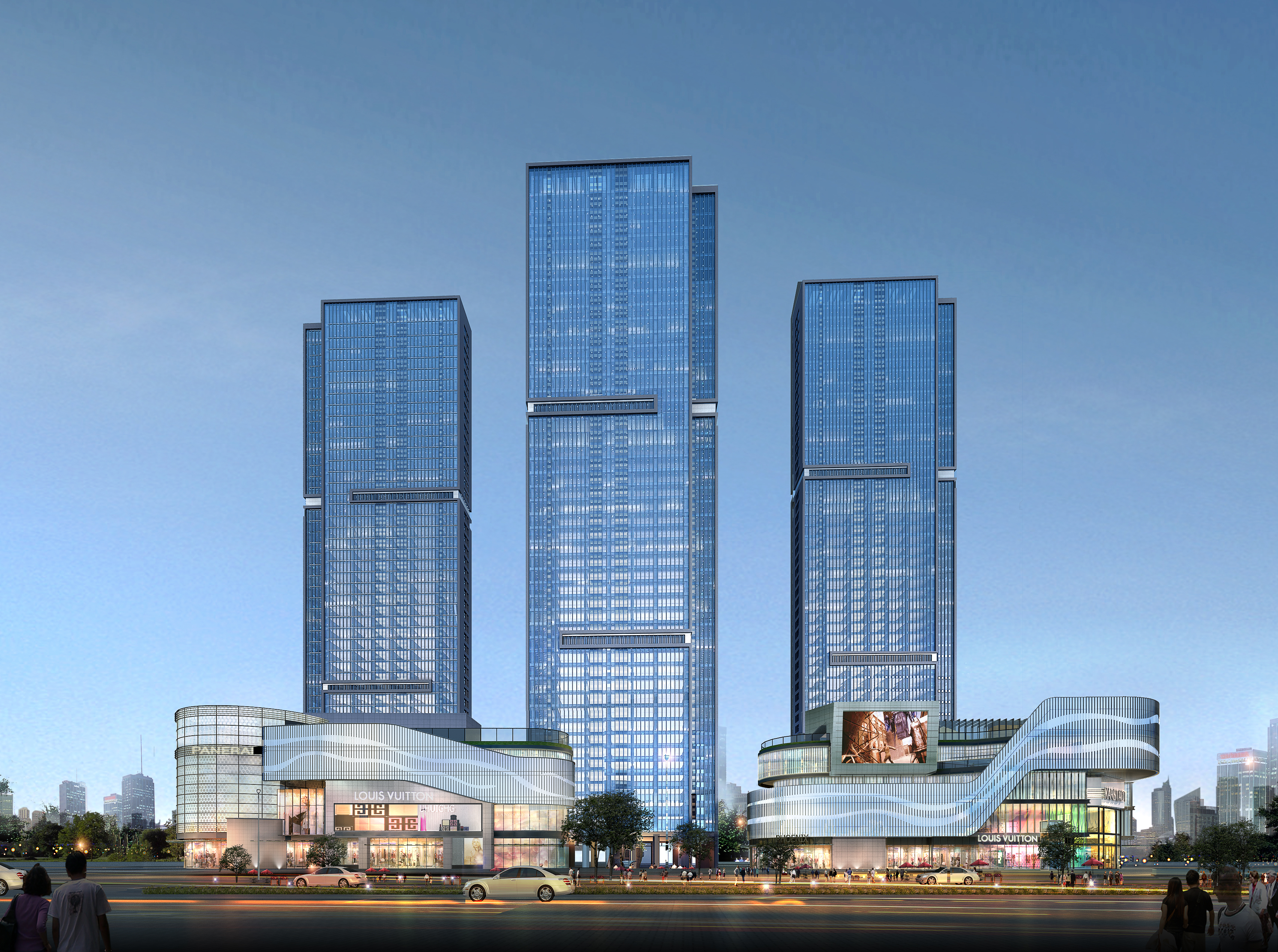 skyscraper business center 056 3d model 3ds 206210