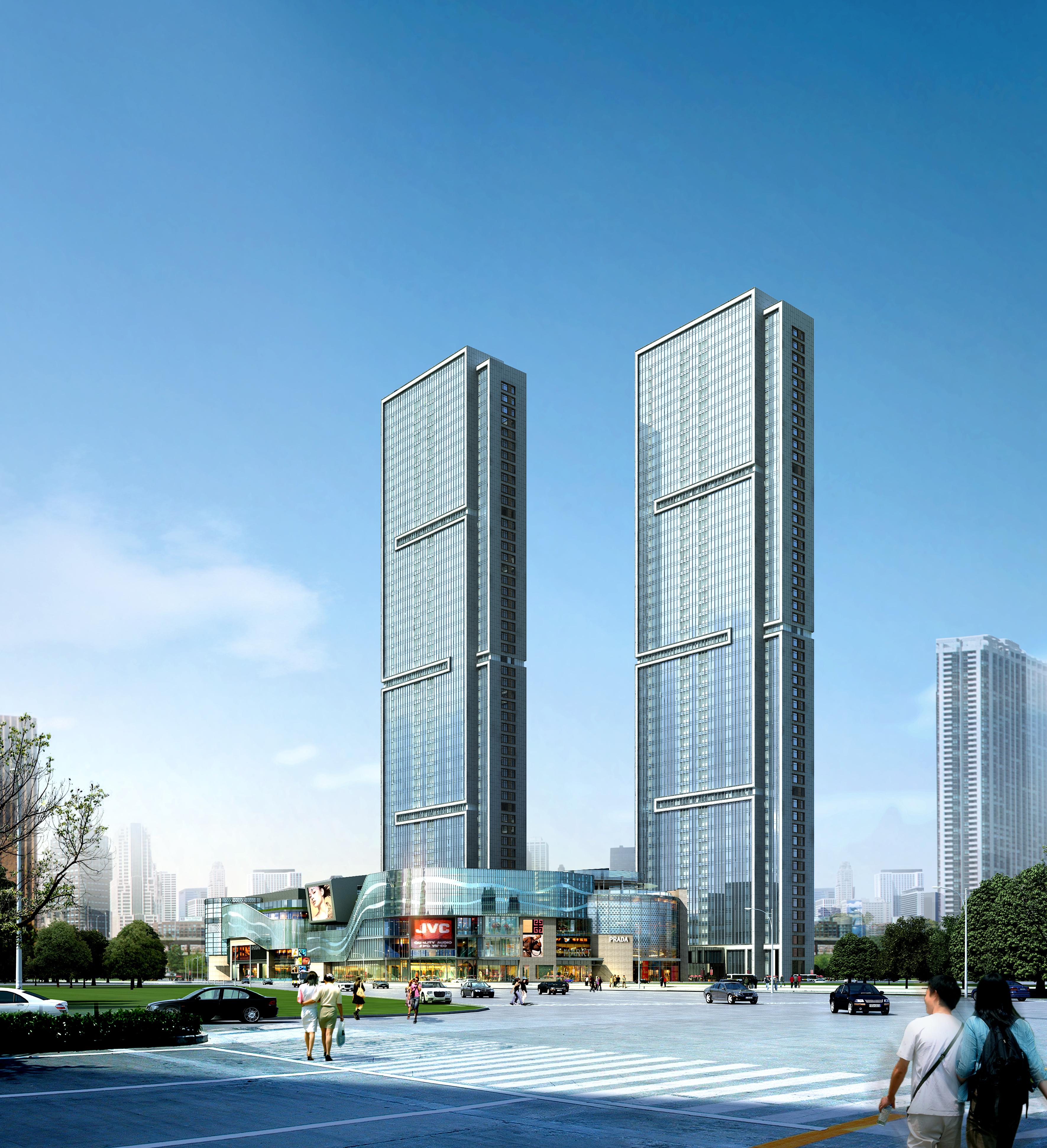 skyscraper business center 056 3d model 3ds 206211