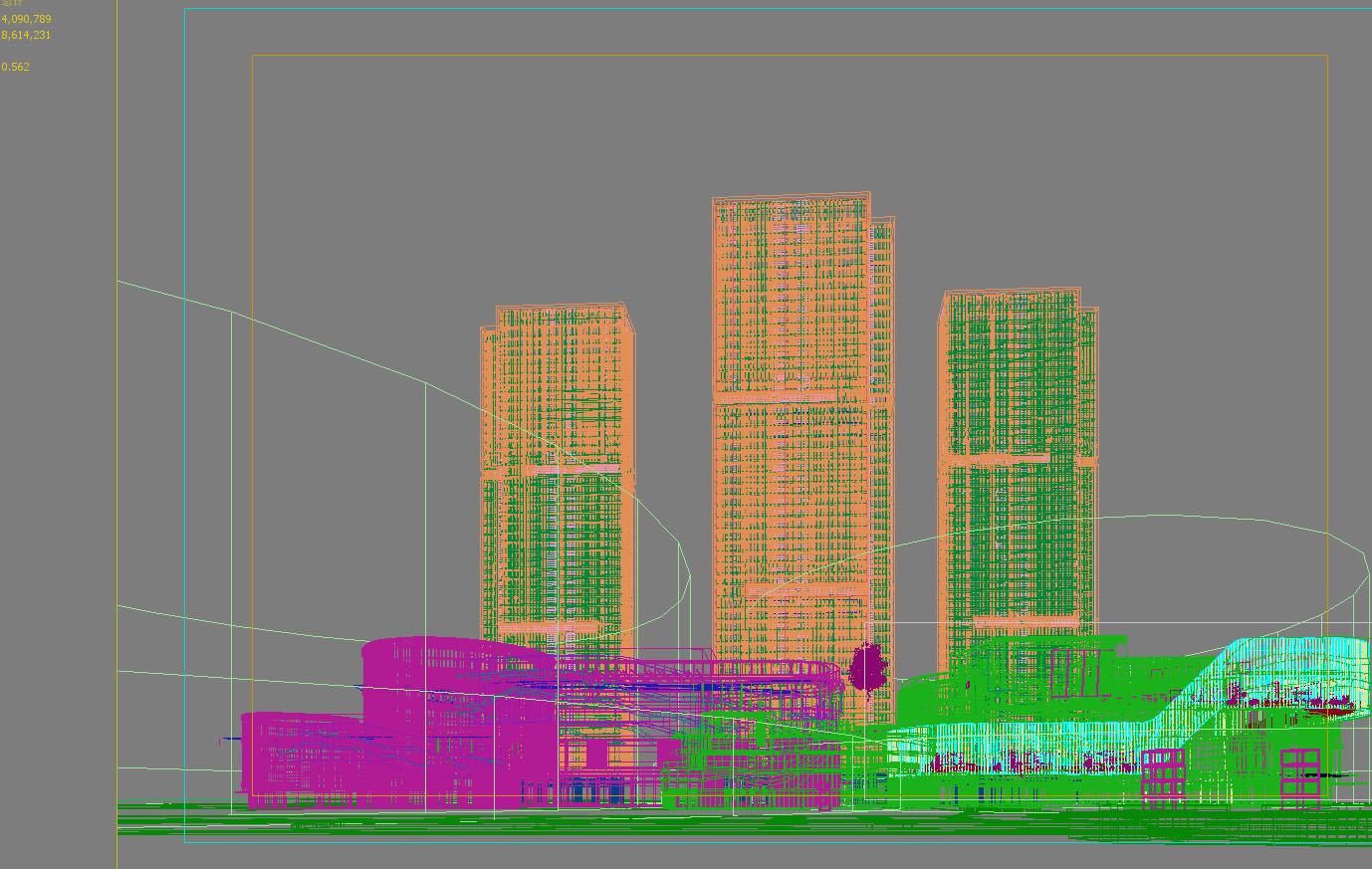 skyscraper business center 056 3d model 3ds 206213