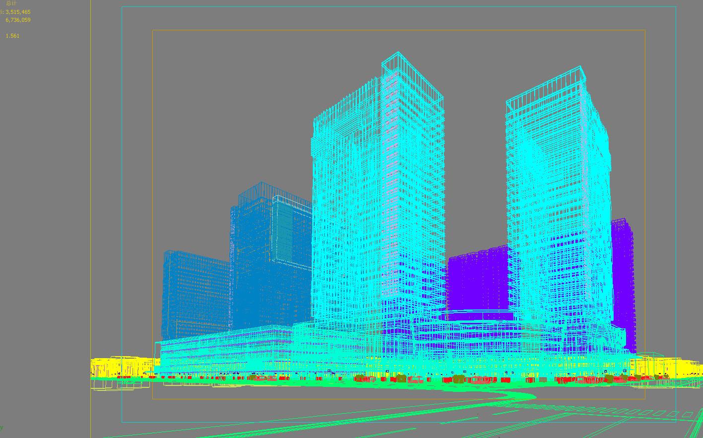 skyscraper business center 060 3d model max 206240
