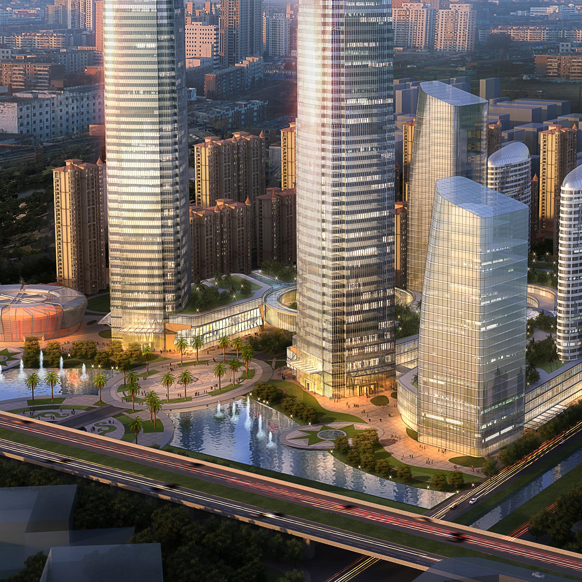 skyscraper office building 003 3d model max 206256