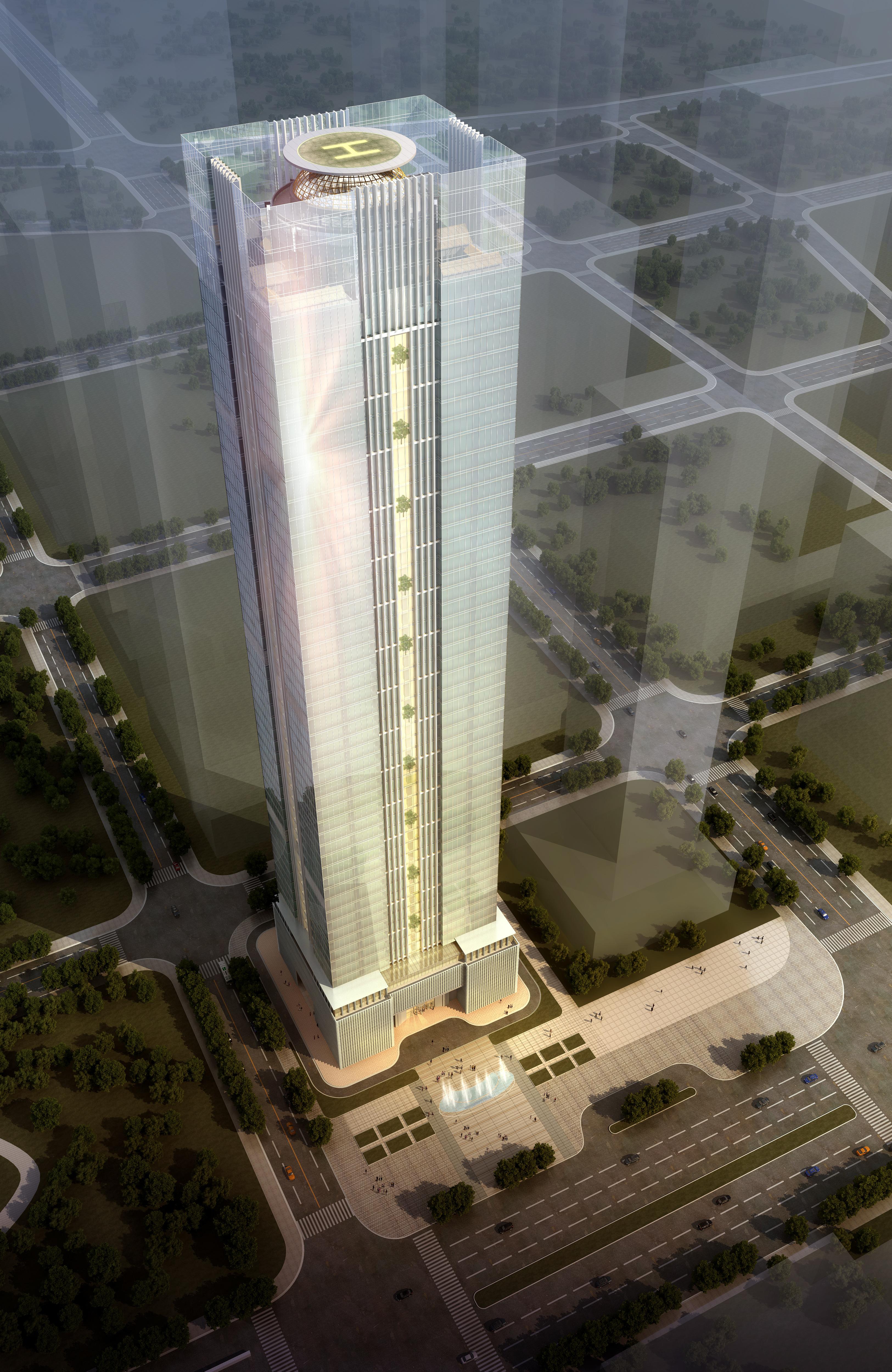 skyscraper office building 005 3d model max psd 206267