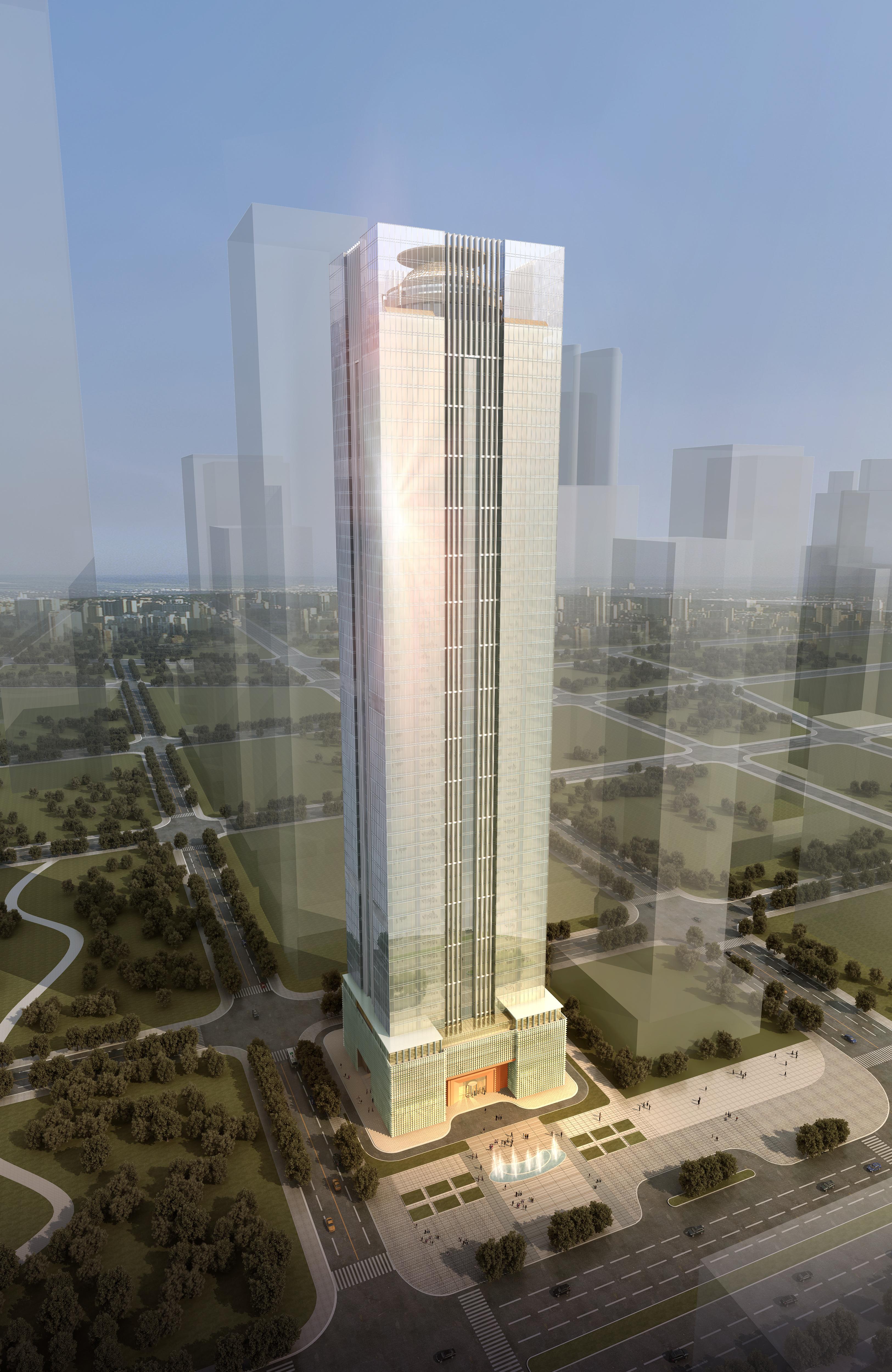 skyscraper office building 005 3d model max psd 206268