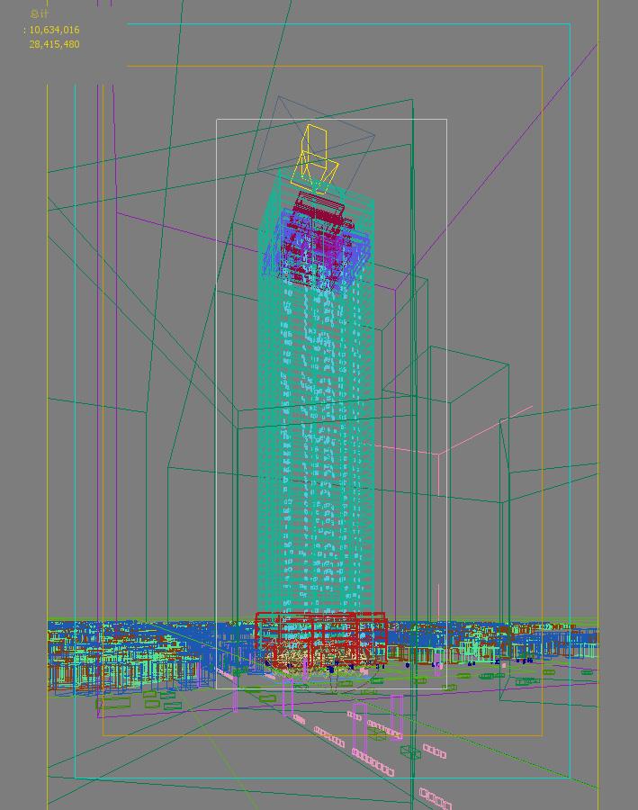 skyscraper office building 005 3d model max psd 206270