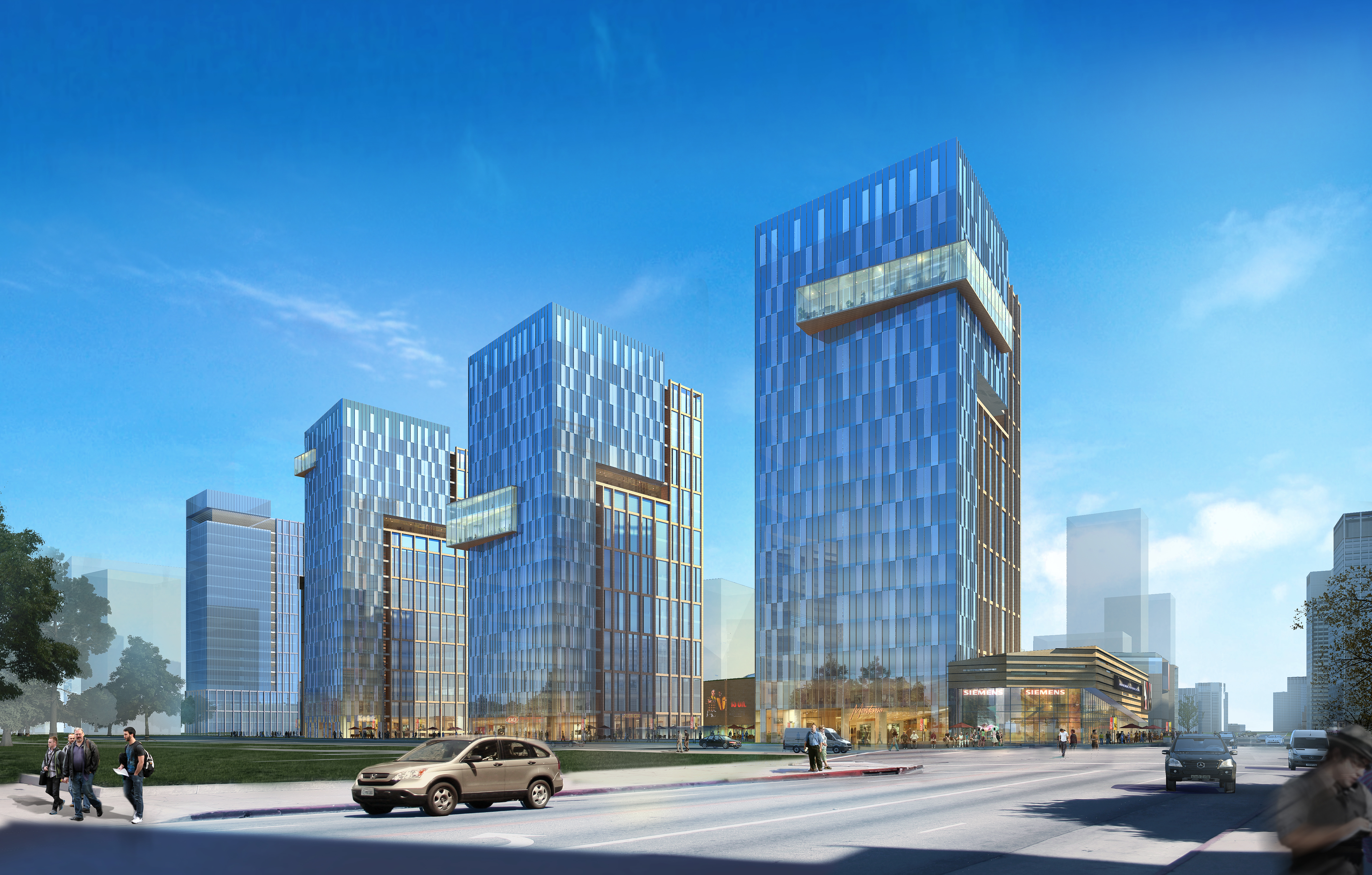 skyscraper office building 009 3d model max psd 206302