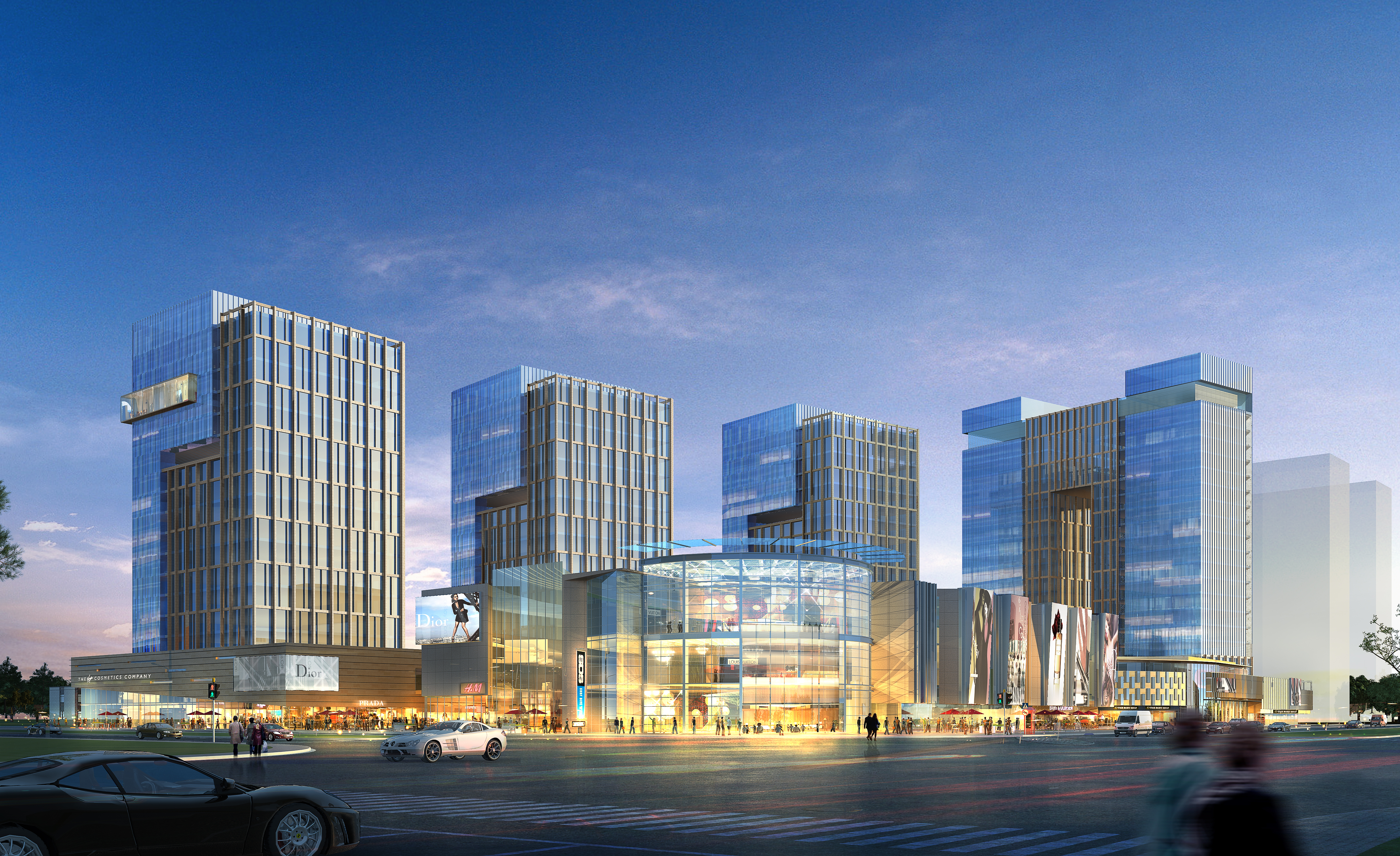 skyscraper office building 009 3d model max psd 206304
