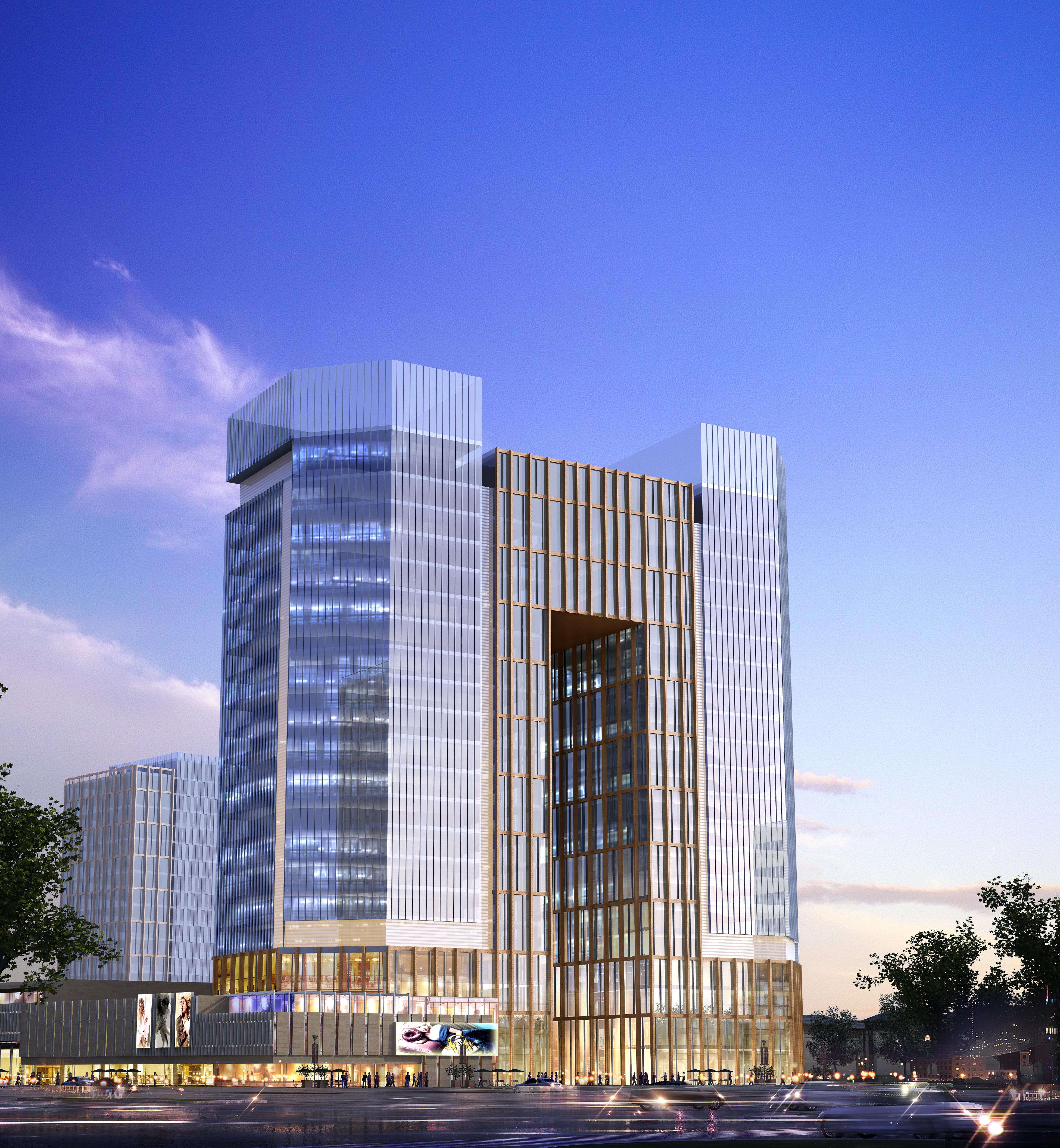 skyscraper office building 009 3d model max psd 206305