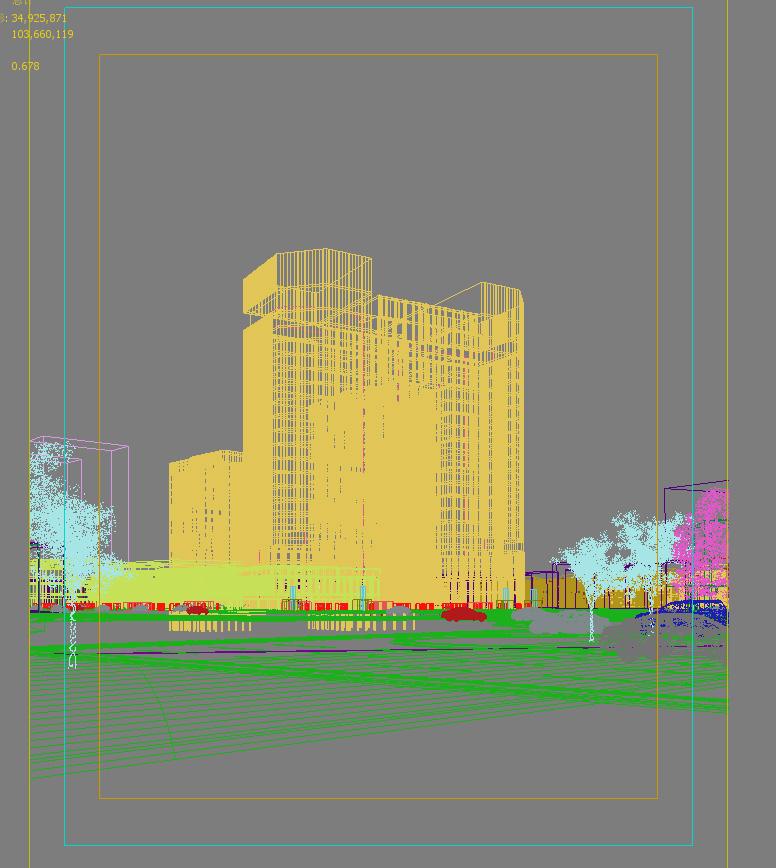 skyscraper office building 009 3d model max psd 206306