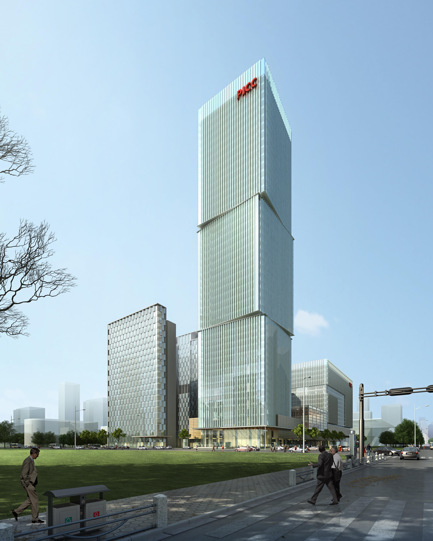 skyscraper office building 011 3d model max psd 206311