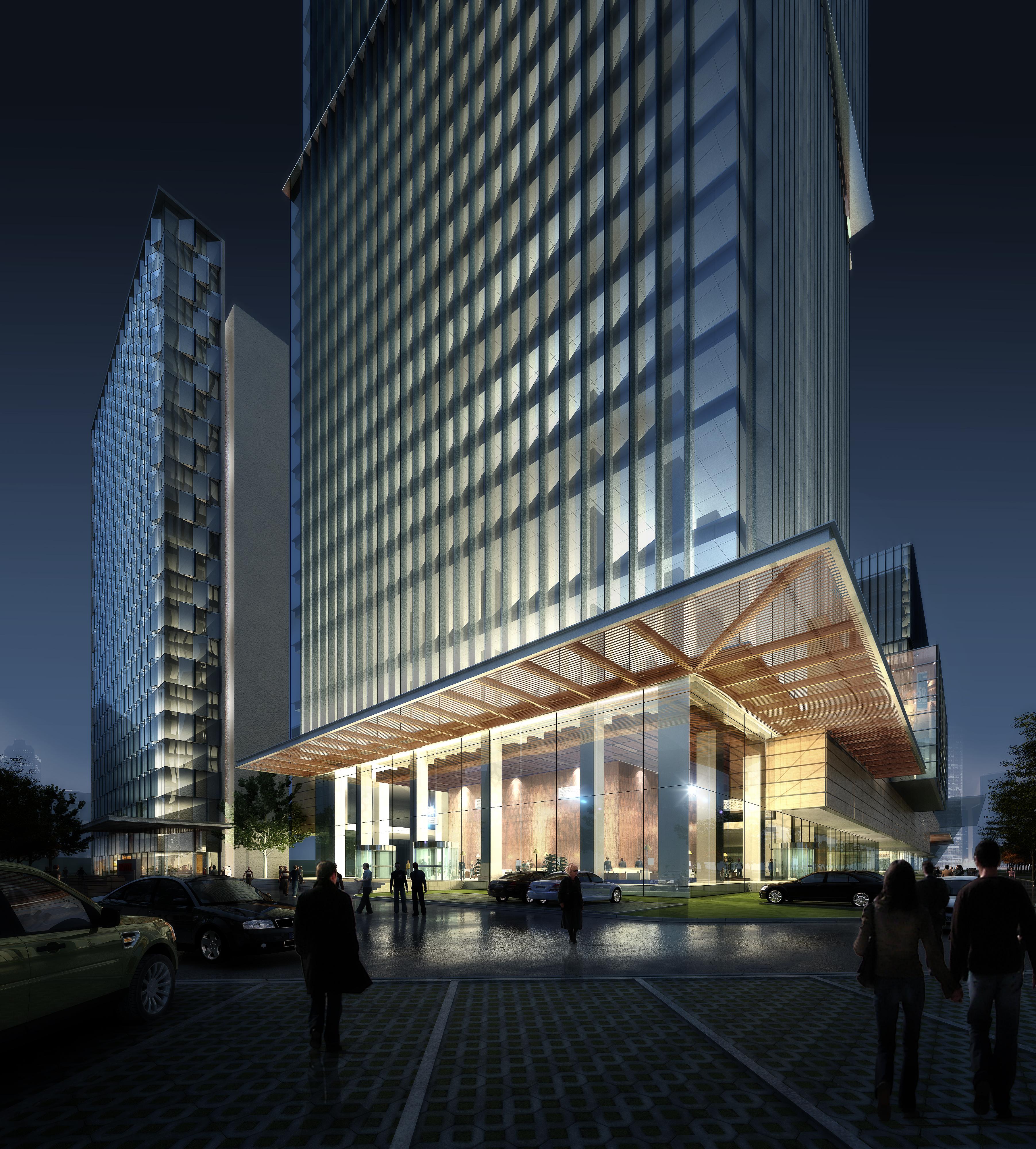 skyscraper office building 011 3d model max psd 206312