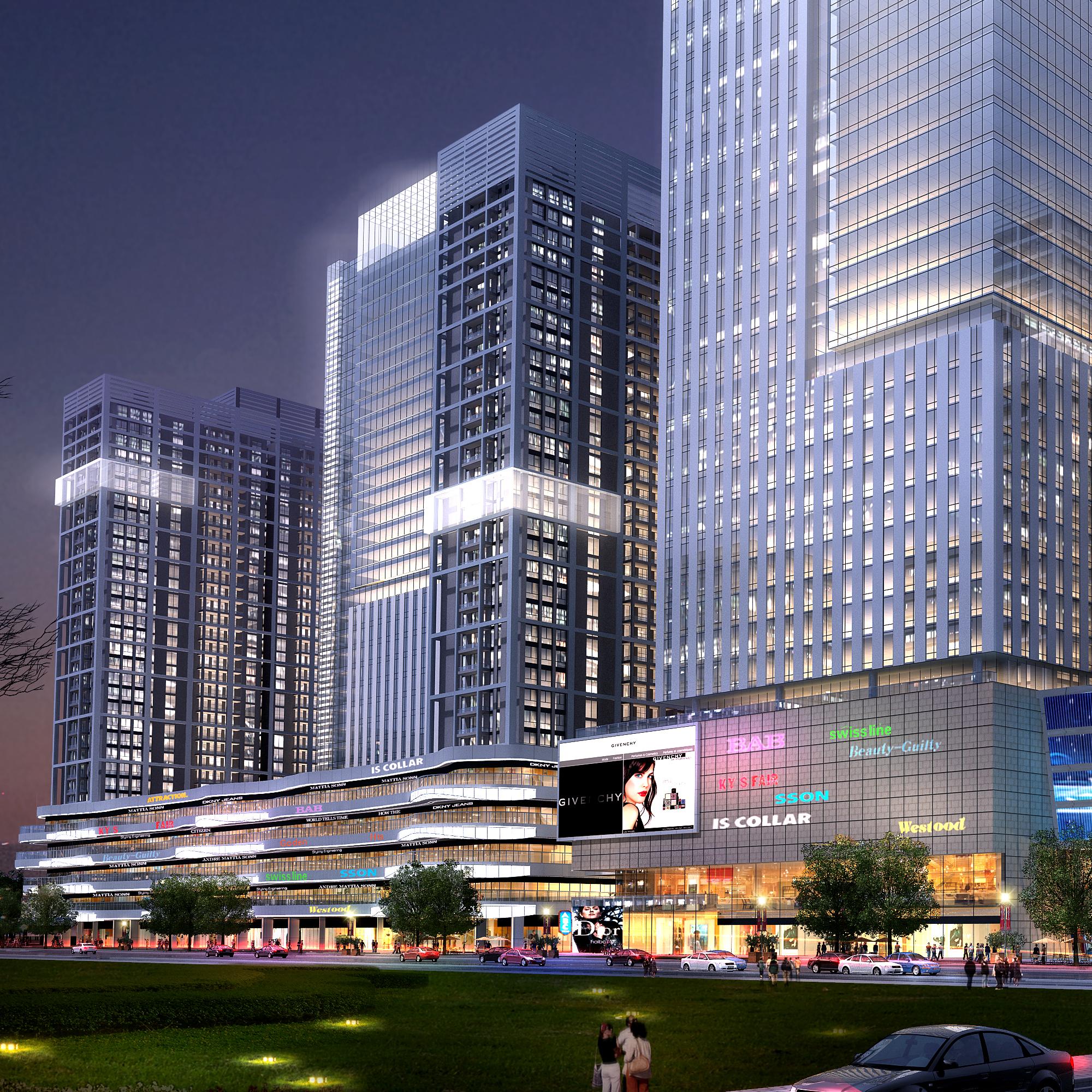 skyscraper office building 013 3d model max 206327