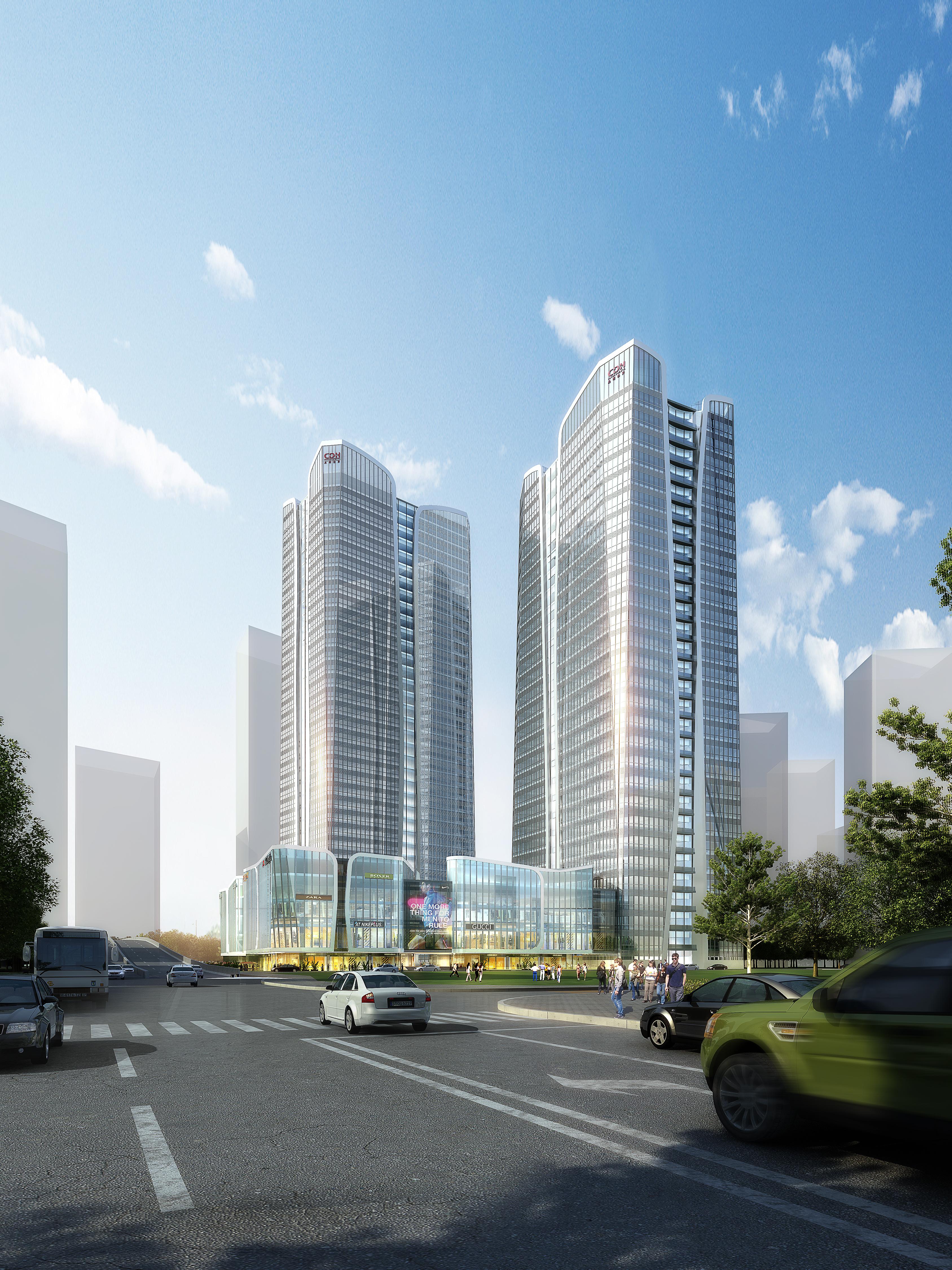 skyscraper office building 018 3d model max psd 206331