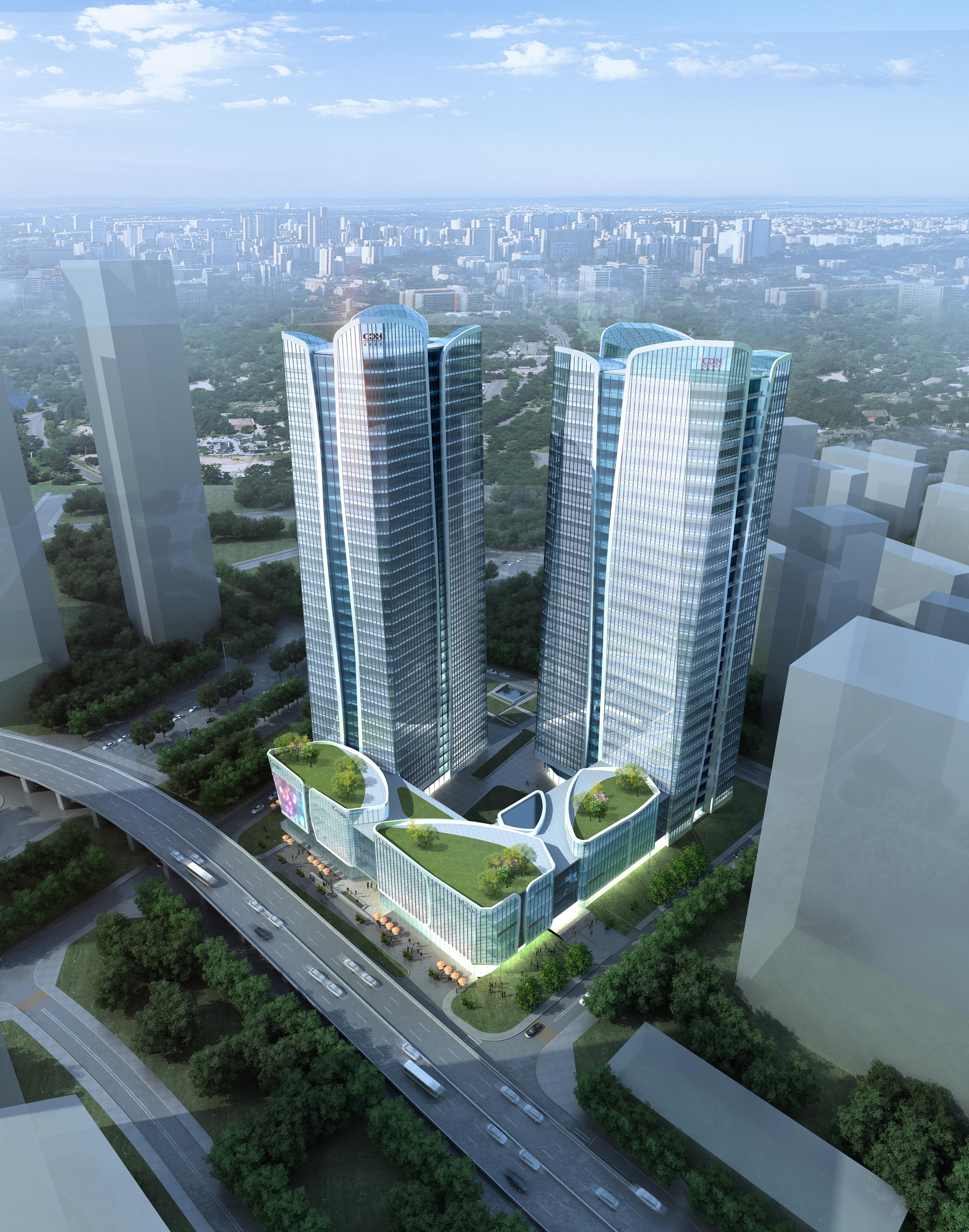skyscraper office building 018 3d model max psd 206332
