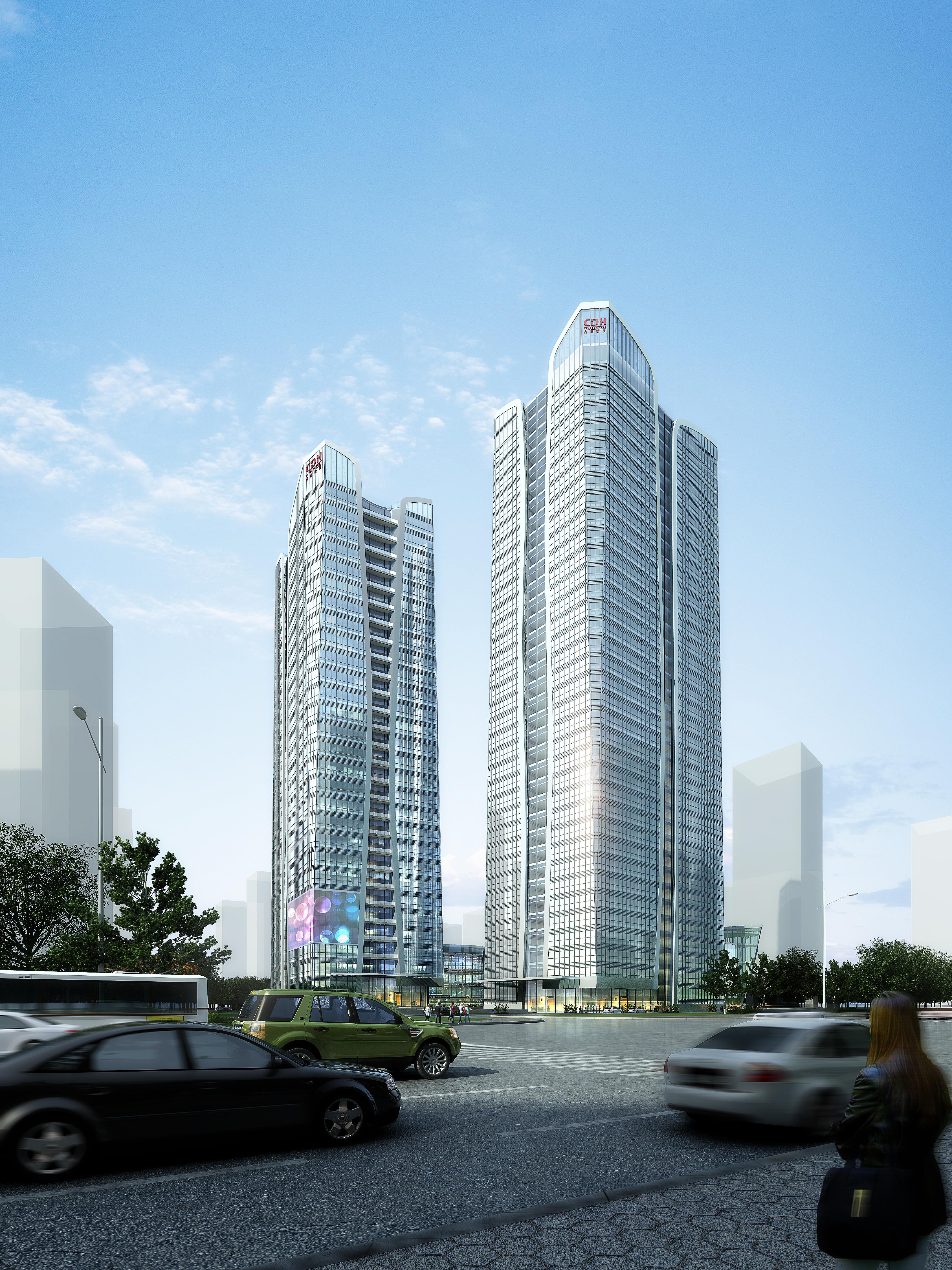 skyscraper office building 018 3d model max psd 206333