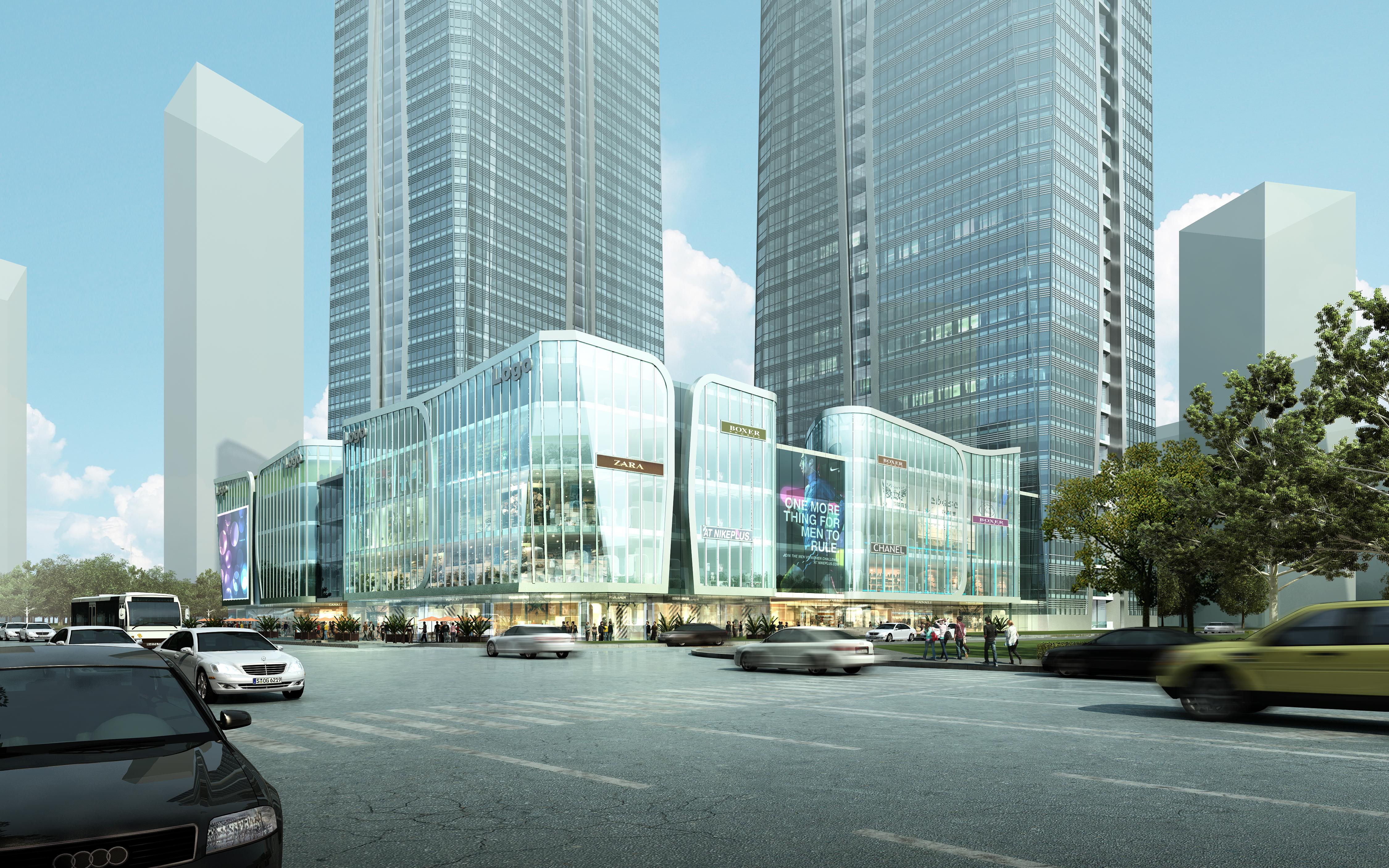 skyscraper office building 018 3d model max psd 206334