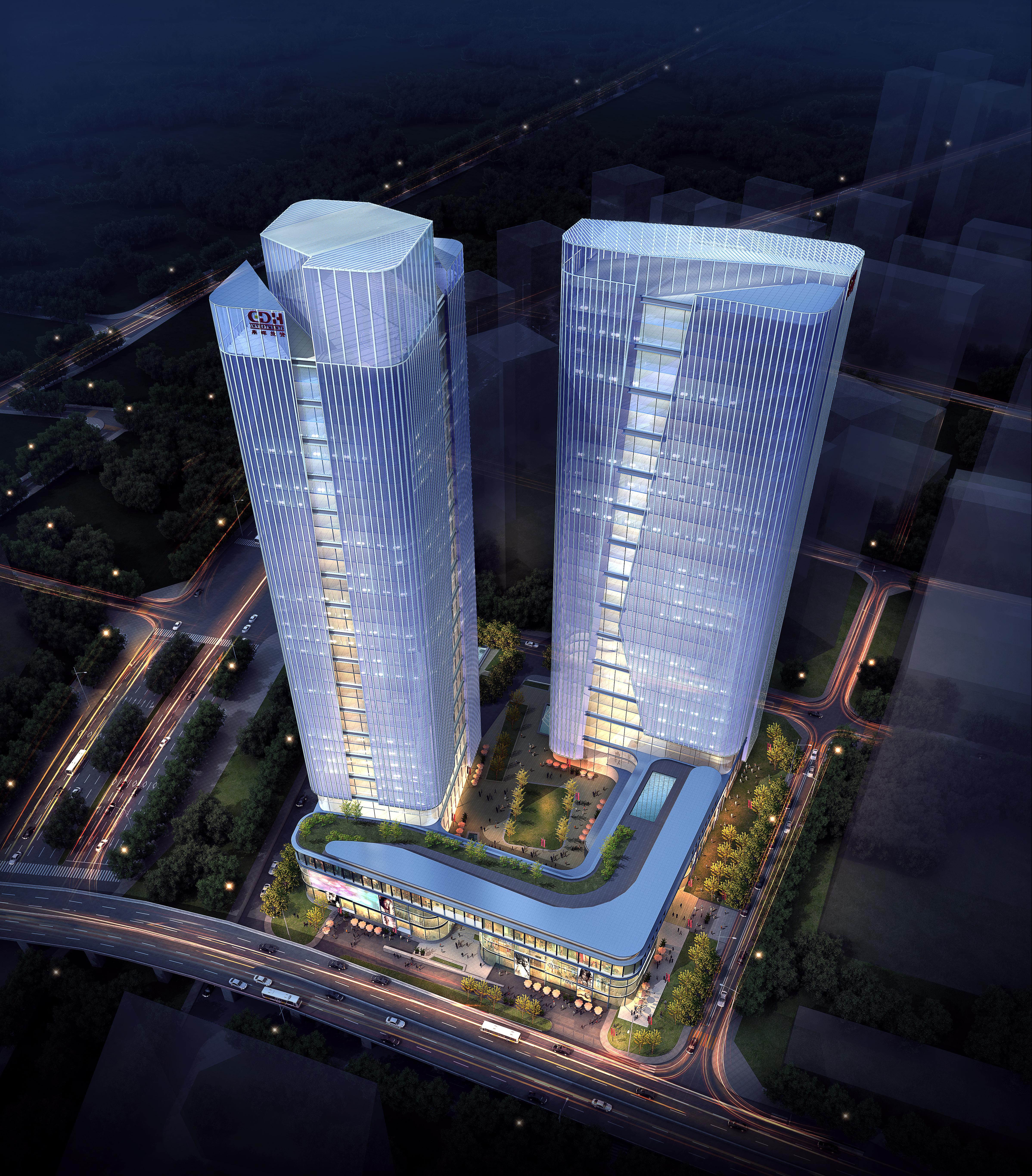 skyscraper office building 019 3d model max psd 206337