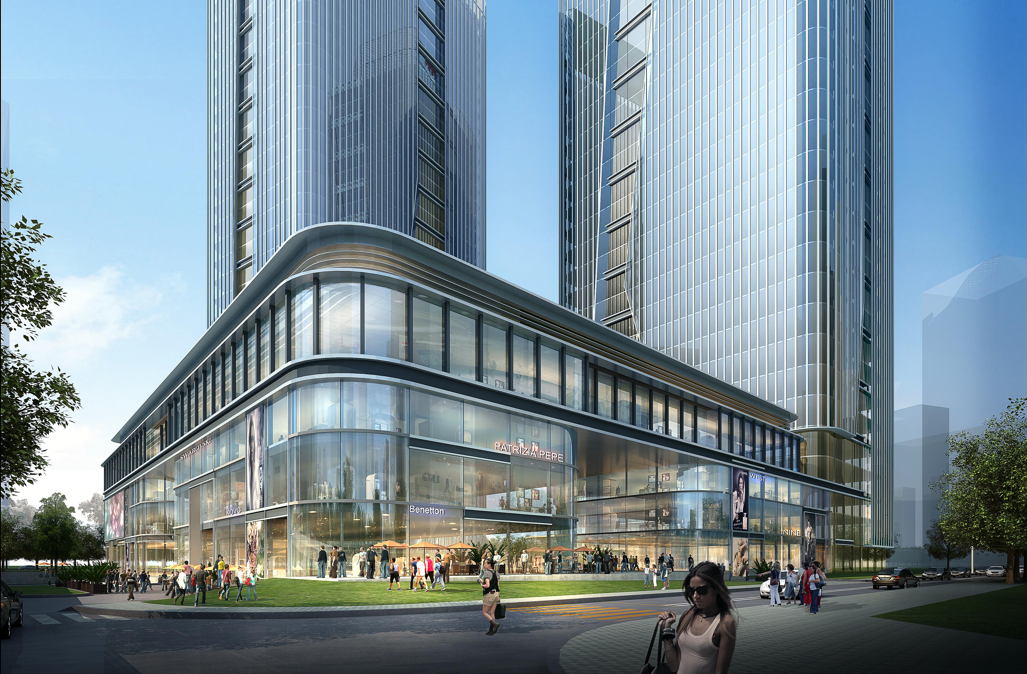 skyscraper office building 019 3d model max psd 206339